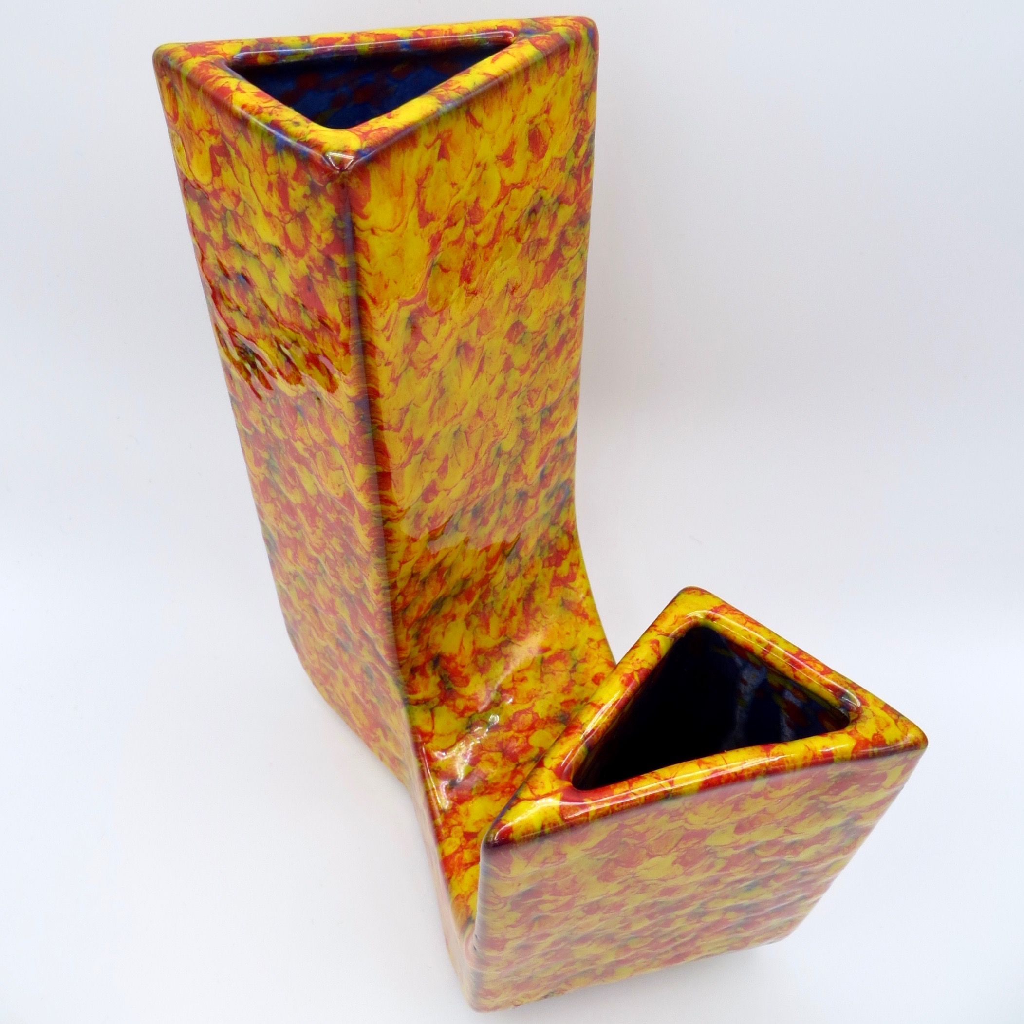 Orange Speckle Ceramic Vase