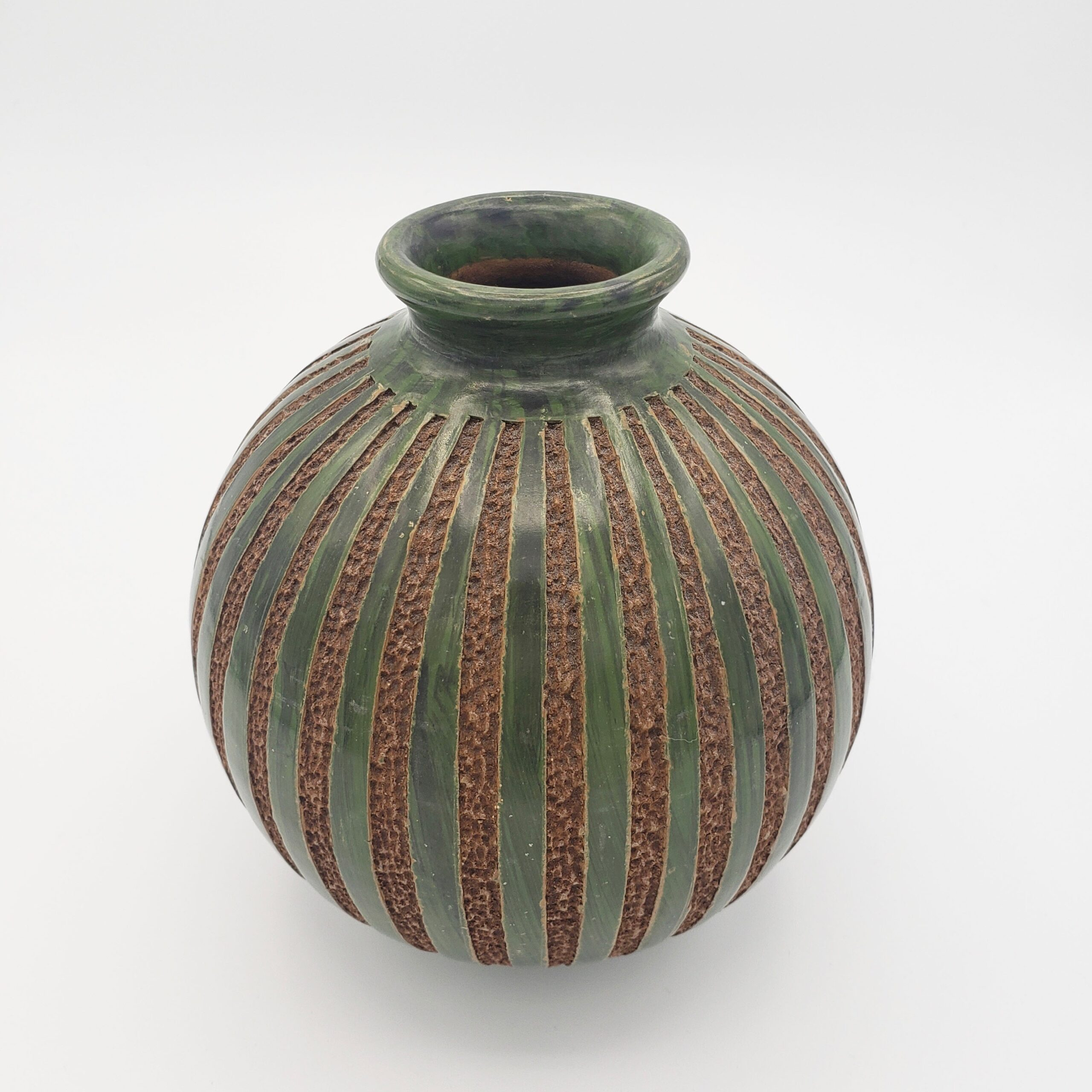 Green Stripe Vase