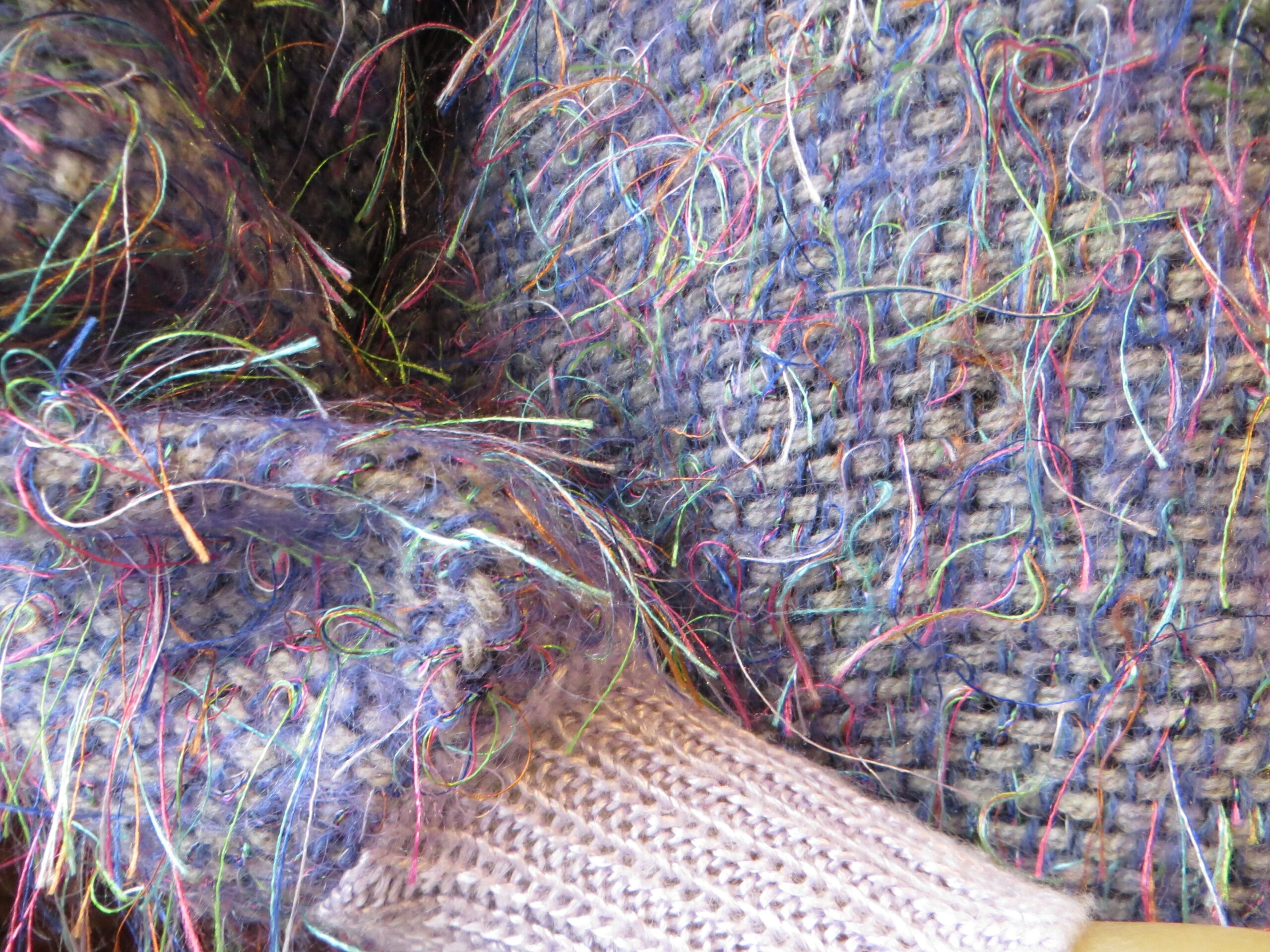 Mauve & Neon Thread Sweater