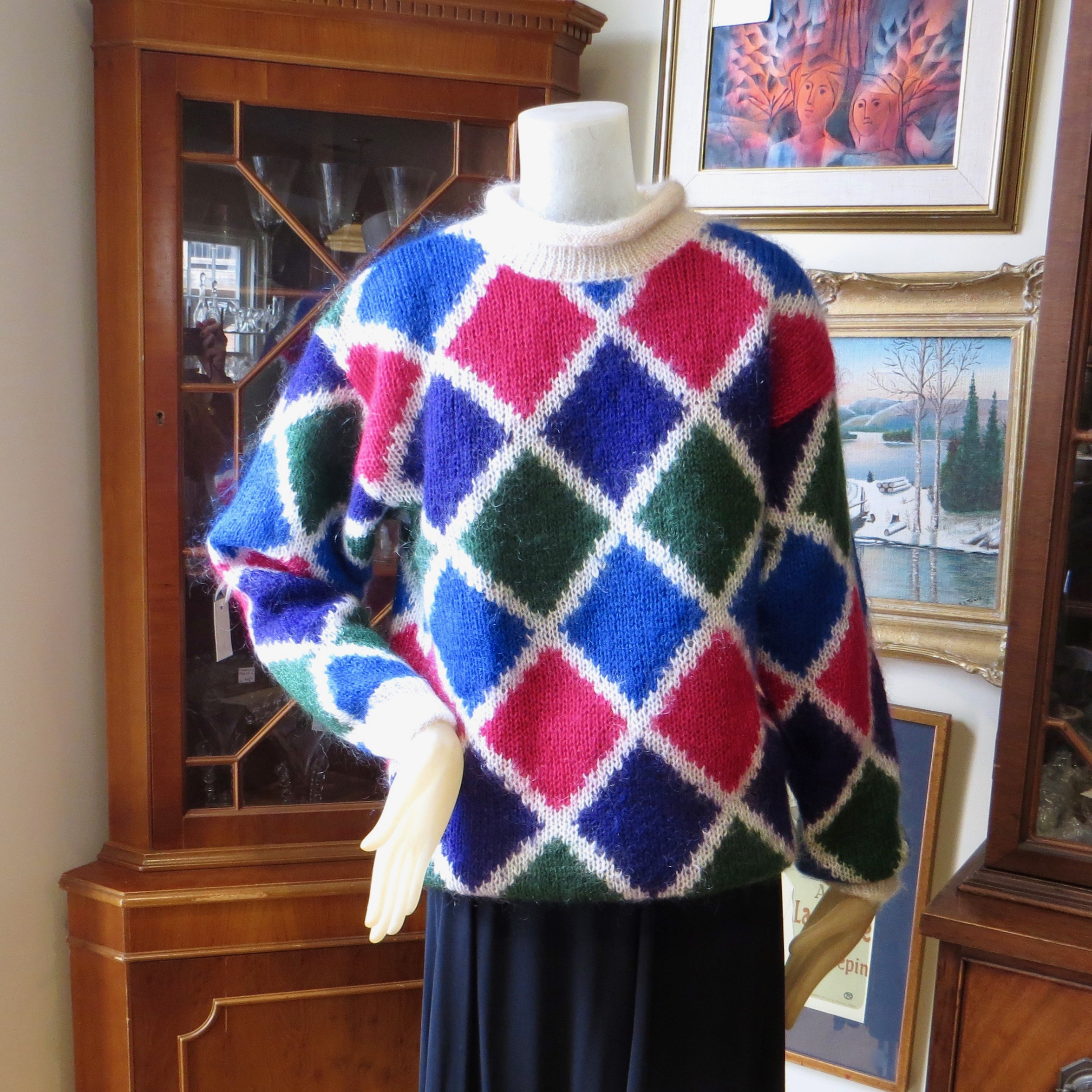 Vintage Eaton's Diamond Pattern Sweater