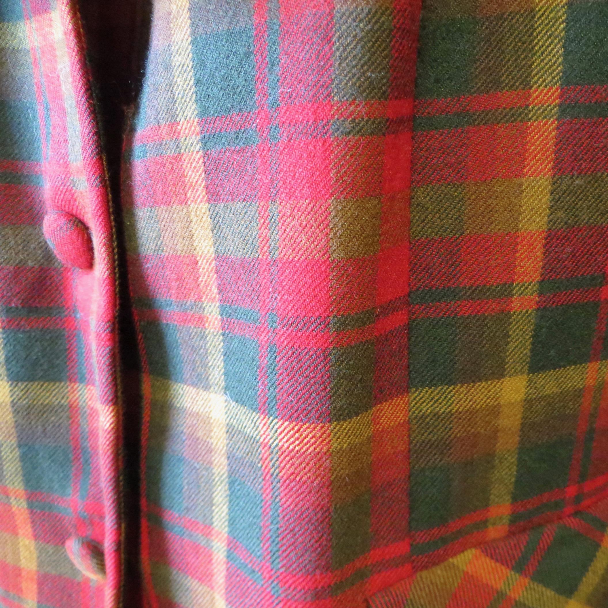 Highland Queen 1950s Plaid Suit