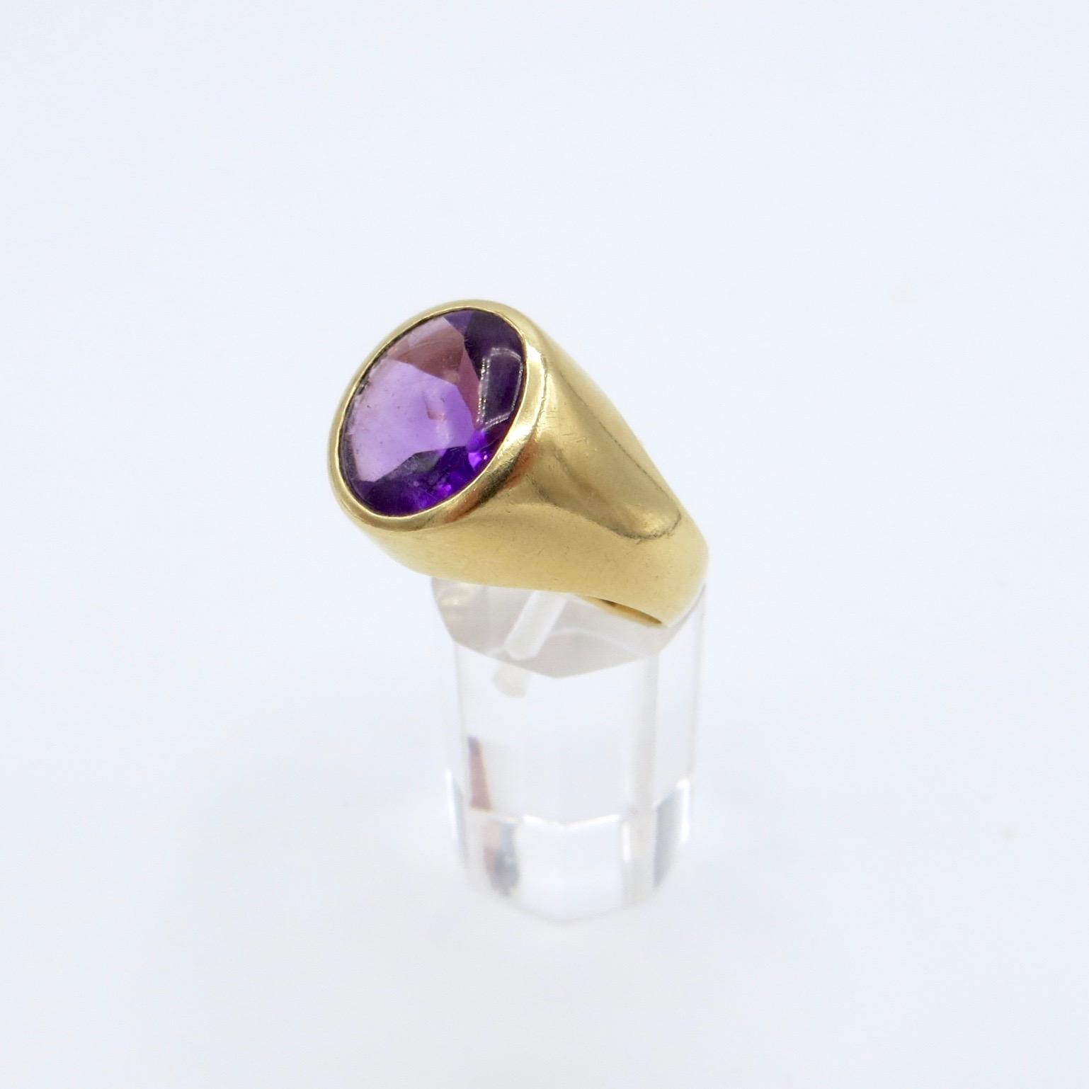 14kt Gold & Amethyst Ring