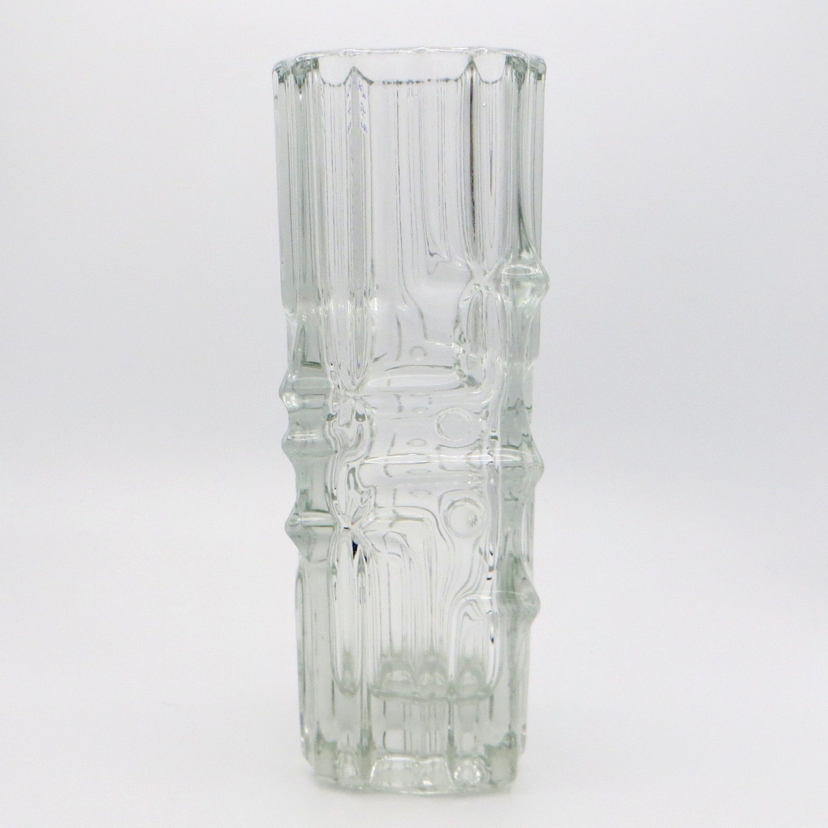 1970s Clear Glass Vase
