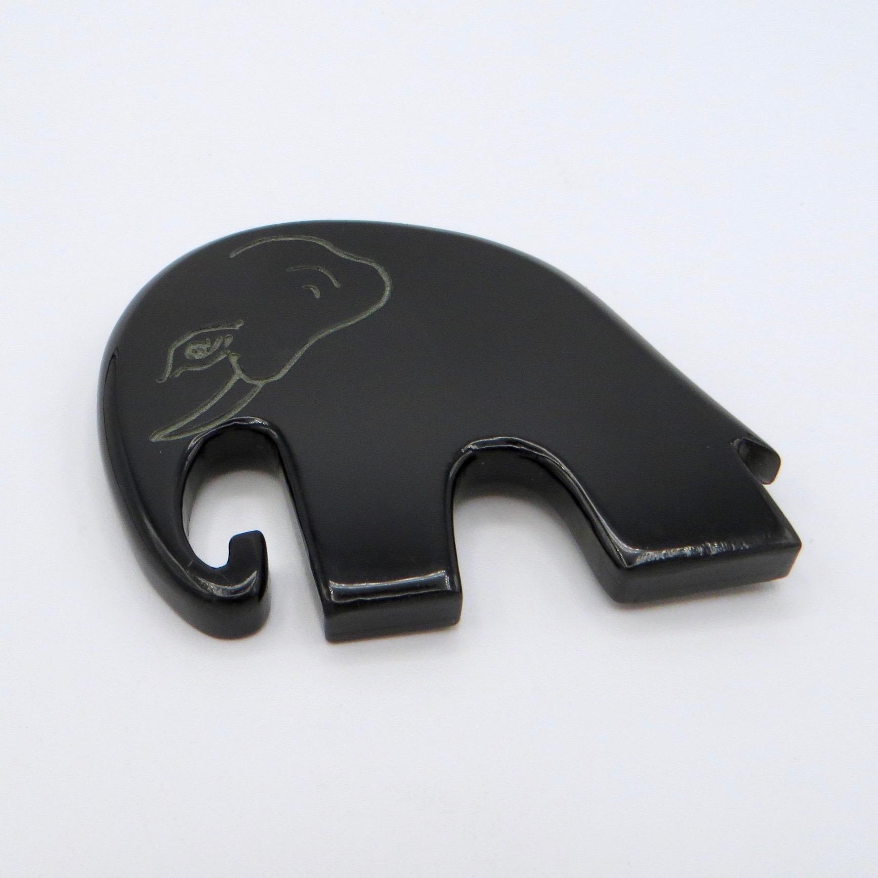 Marion Godart Elephant Brooch