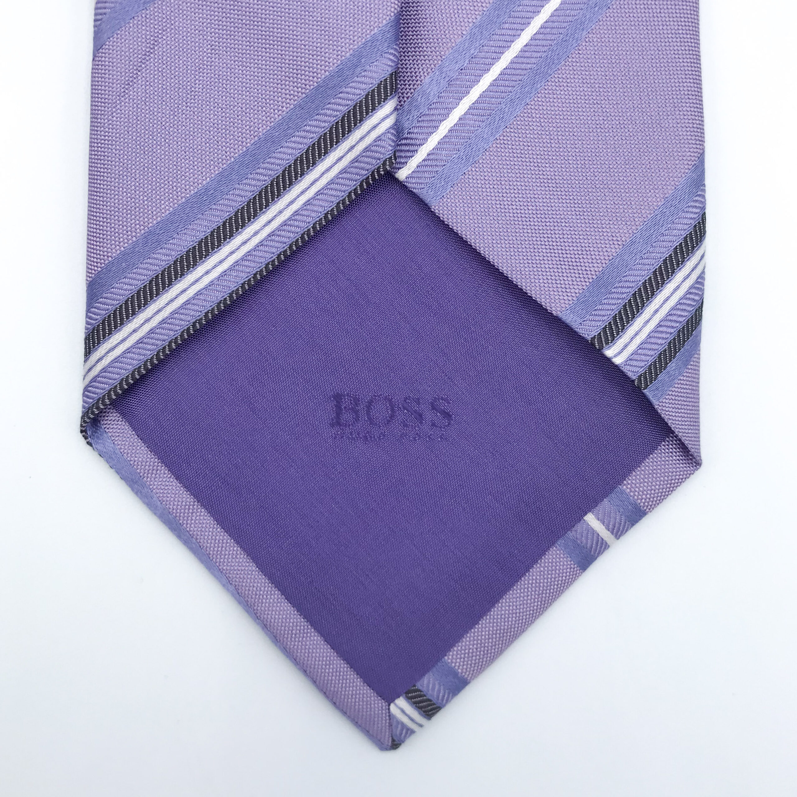 Hugo Boss Mauve Stripe Tie