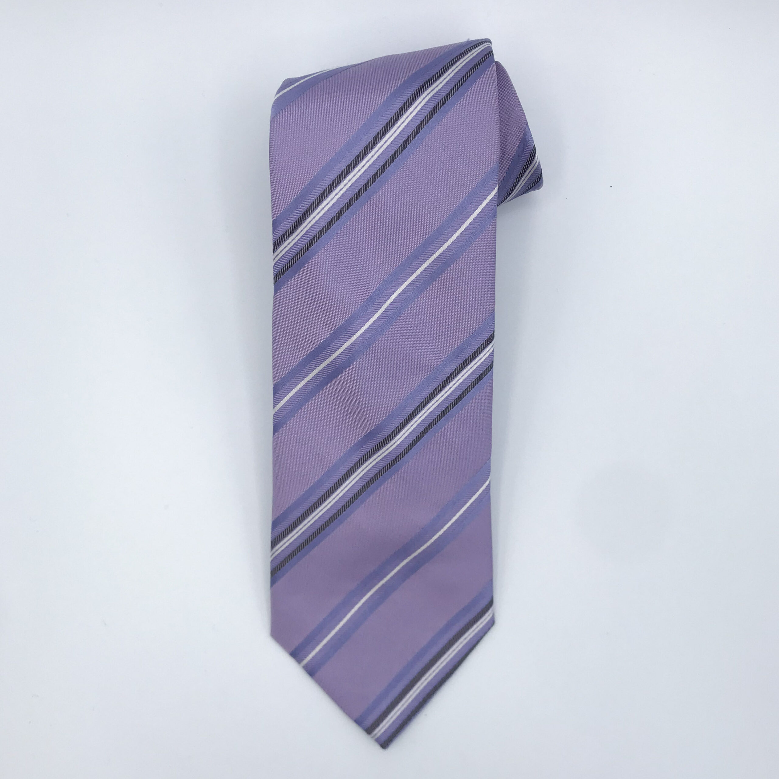 Hugo Boss Mauve Stripe Tie