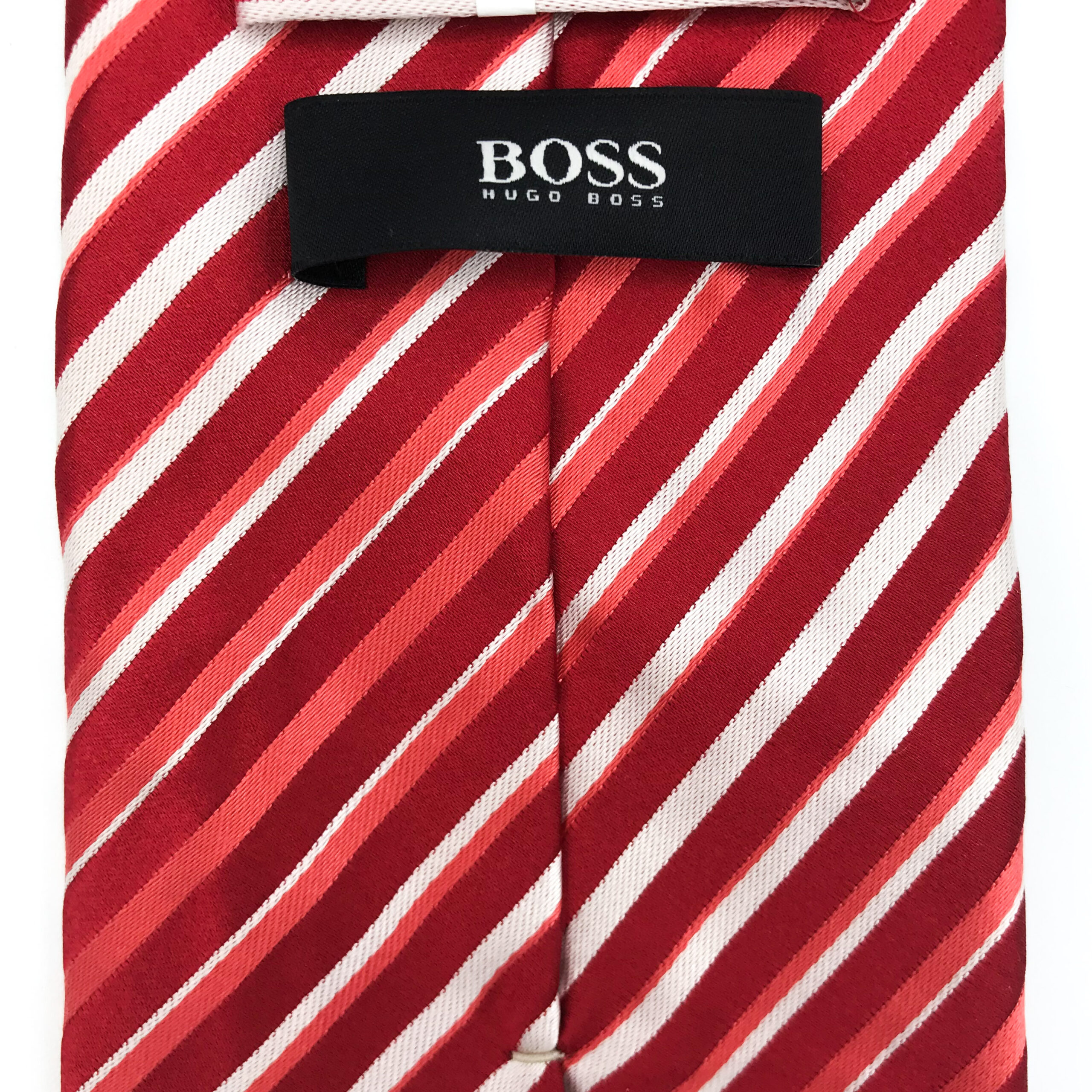 Hugo Boss Red Stripe Tie