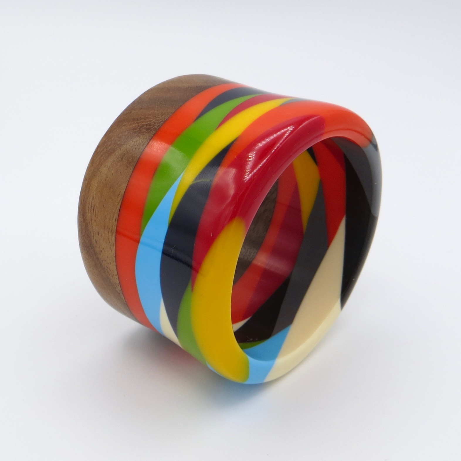 Palmes Wood & Resin Bracelet