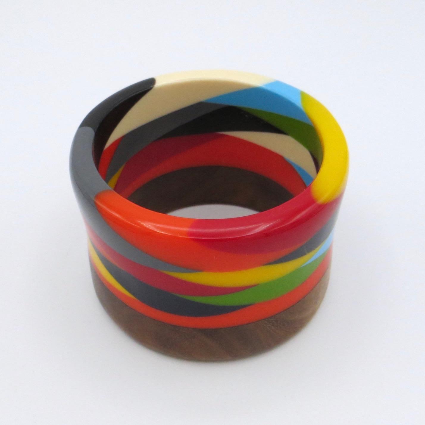 Palmes Wood & Resin Bracelet