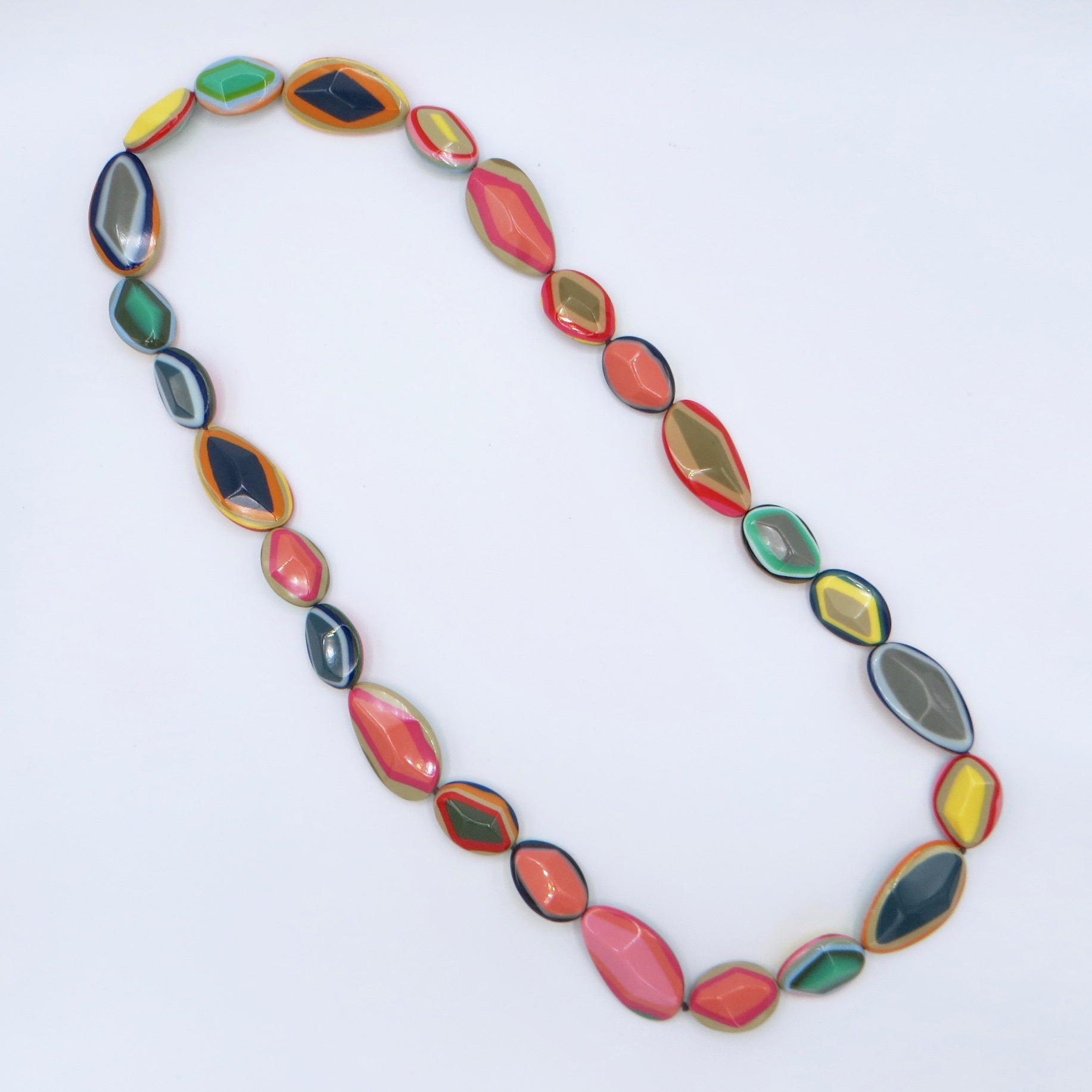 Marion Godart Layered Resin Necklace - Pastel