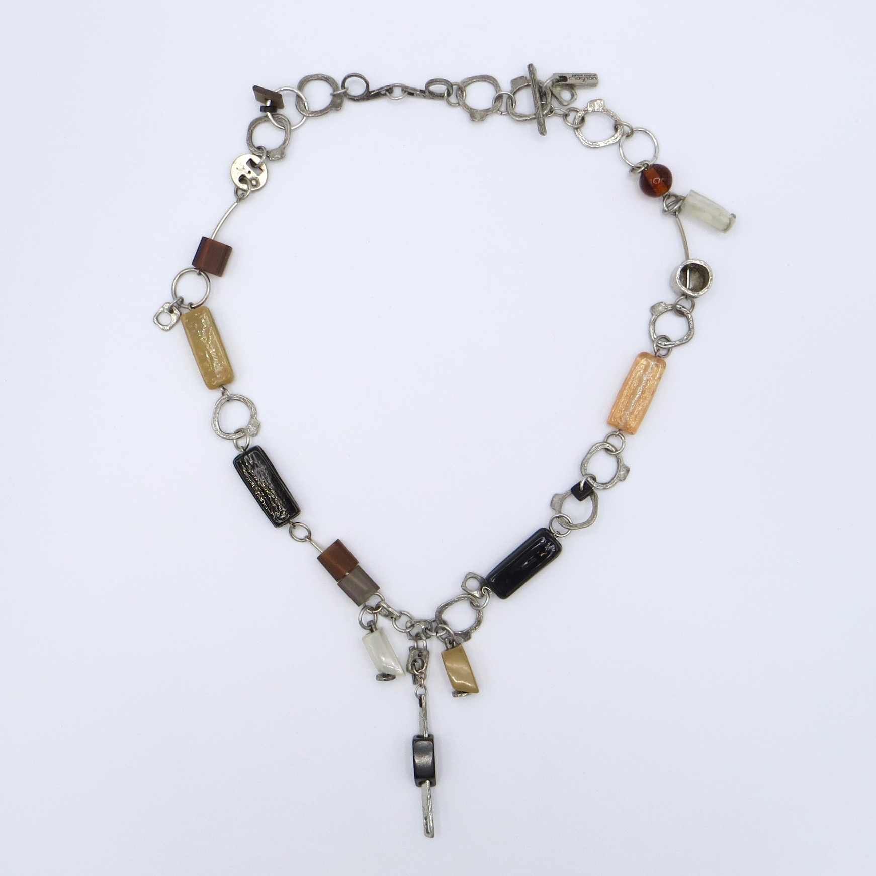 Anne-Marie Chagnon Pewter & Acrylic Necklace