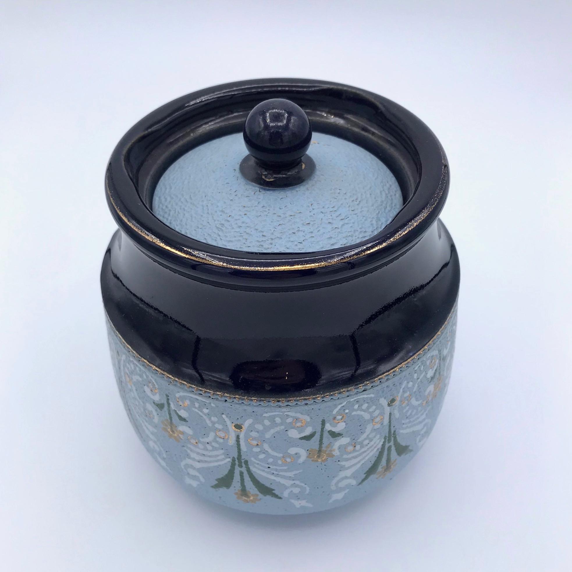 Floral Tobacco Jar