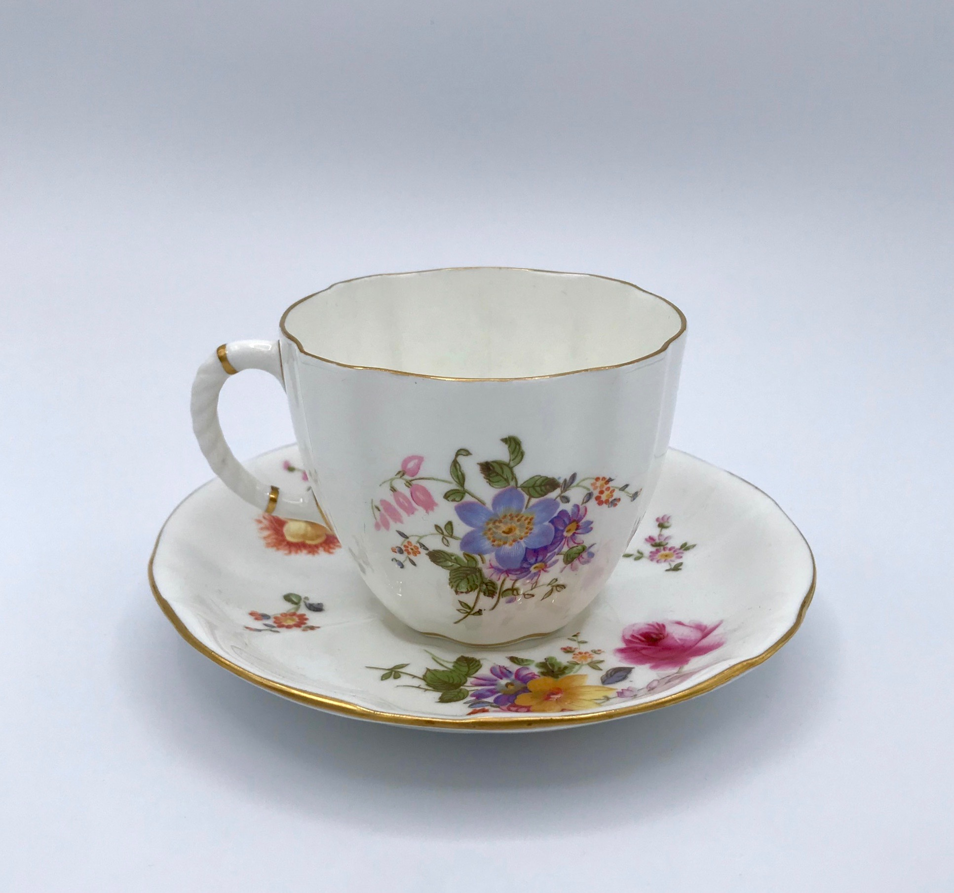 Royal Crown Derby Floral Cup & Saucer