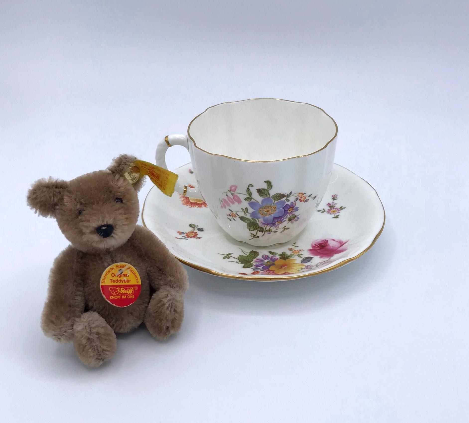 Royal Crown Derby Floral Cup & Saucer