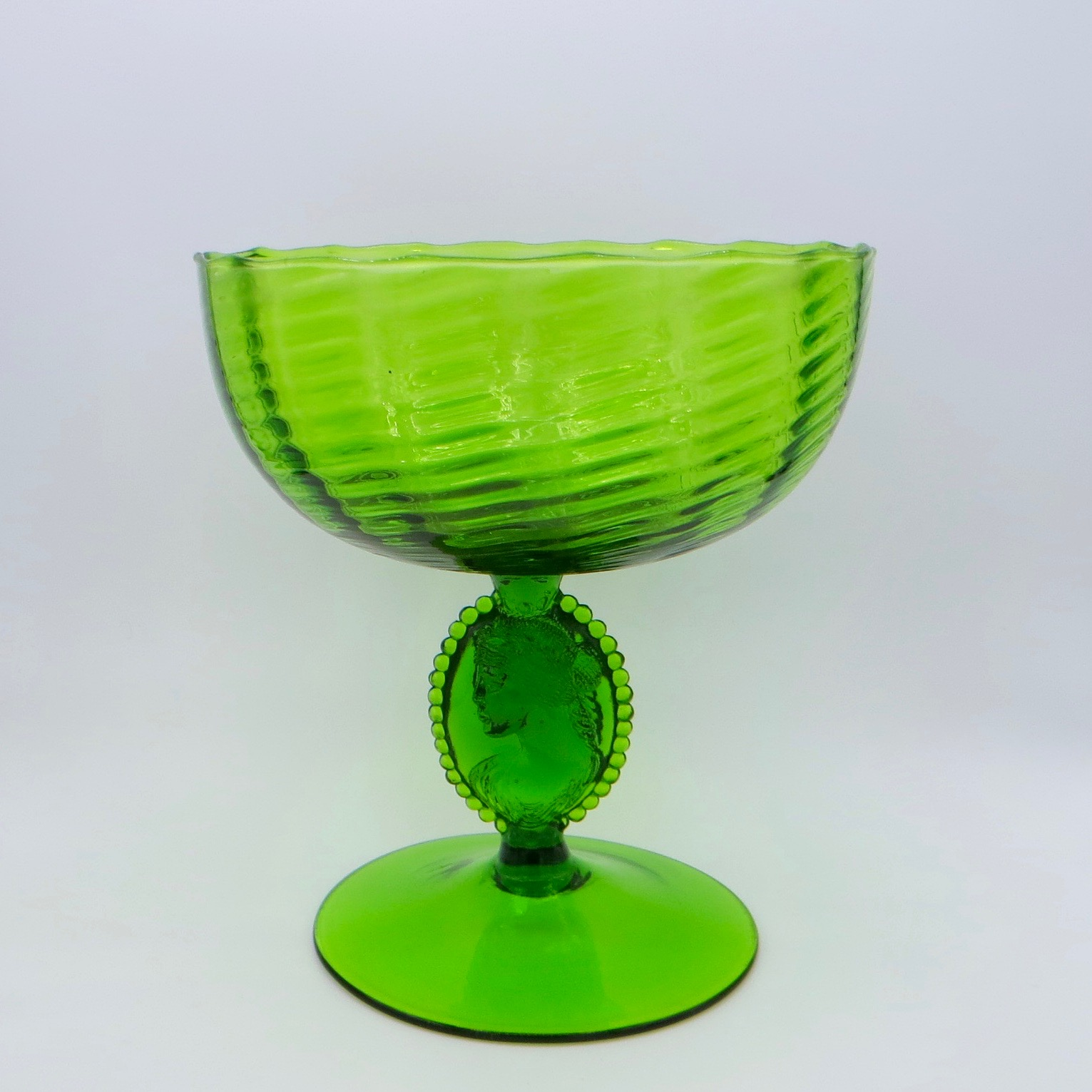 Green Glass Comport