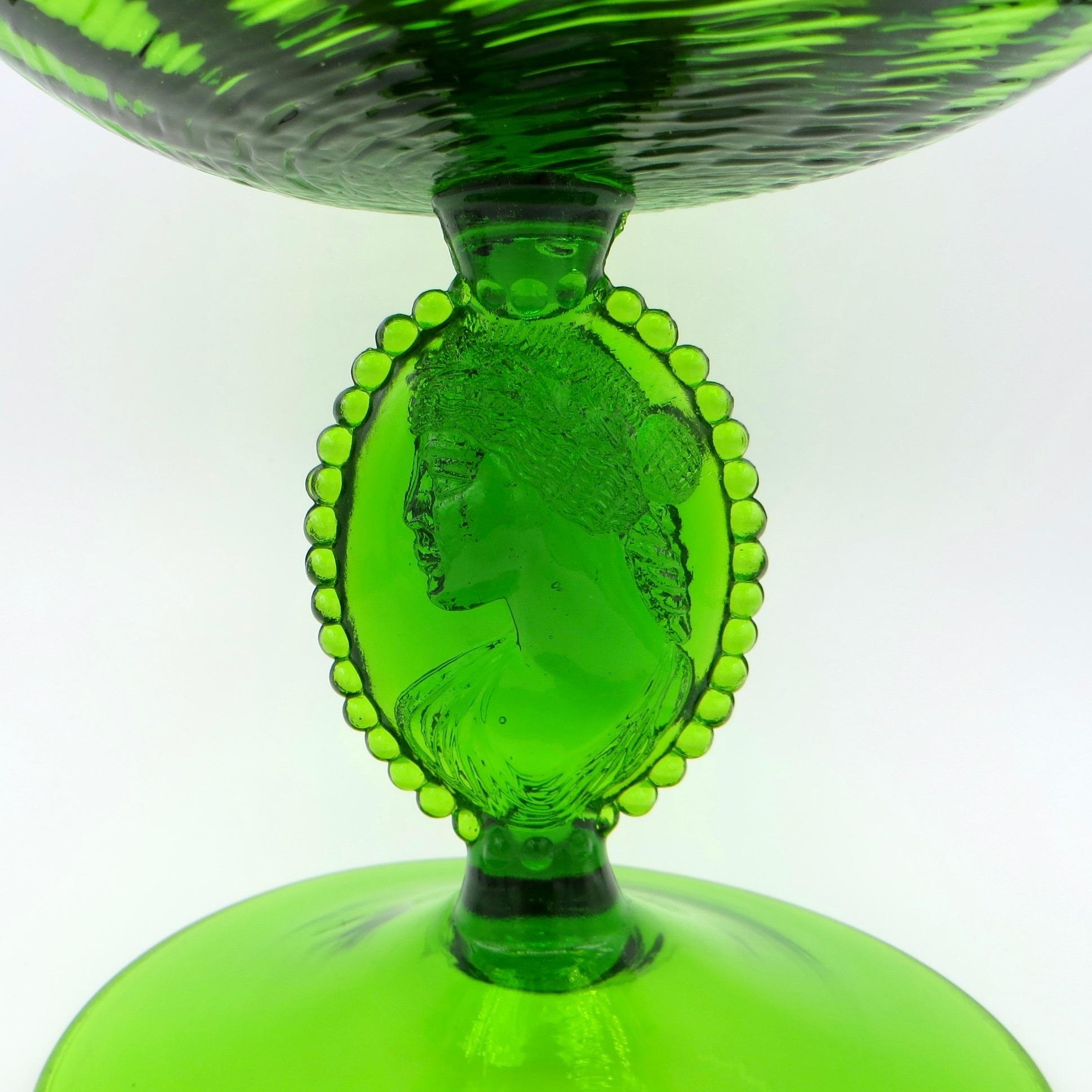Green Glass Comport