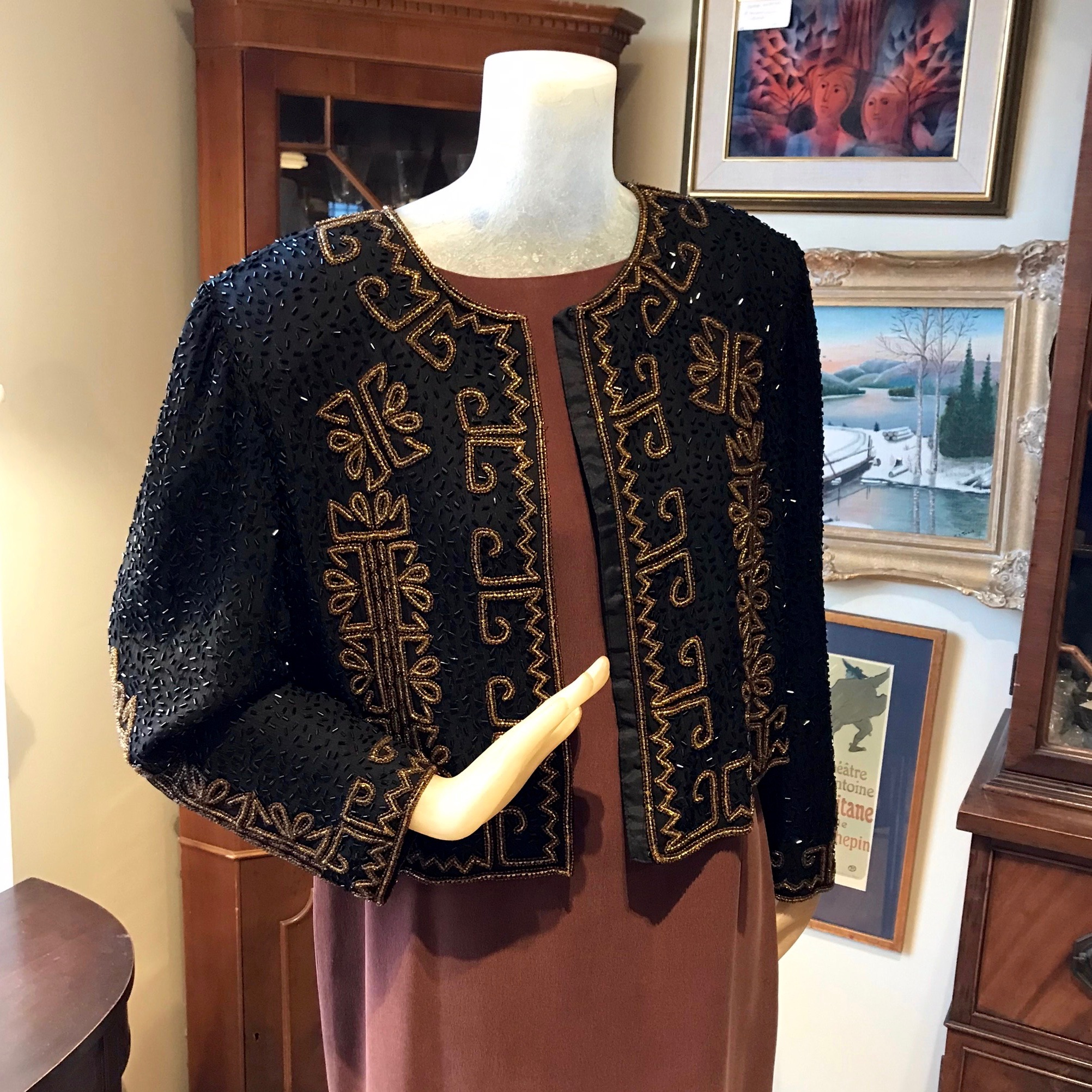 Beaded Silk Jacket