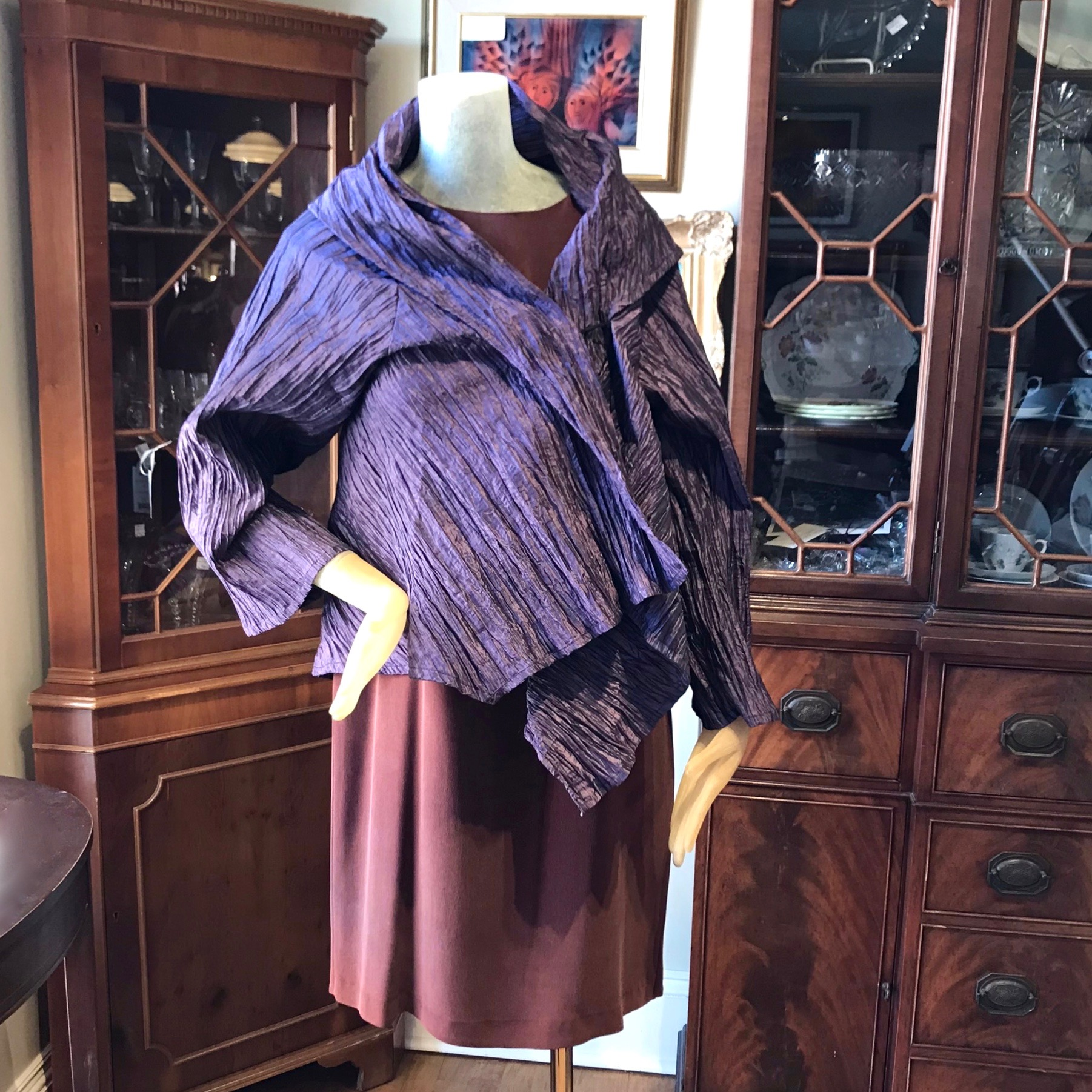 Asymmetrical Purple Jacket