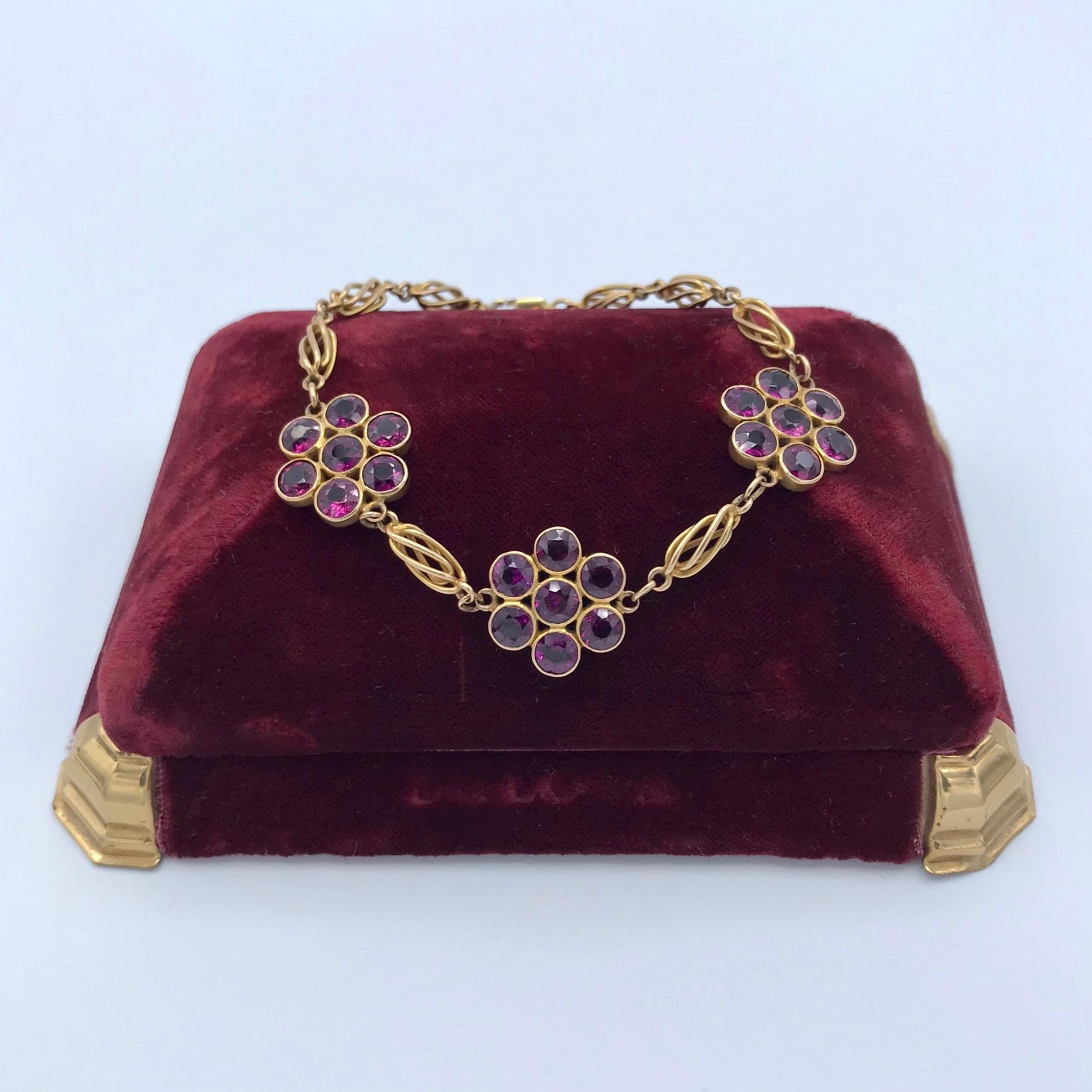 Purple Garnet Bracelet