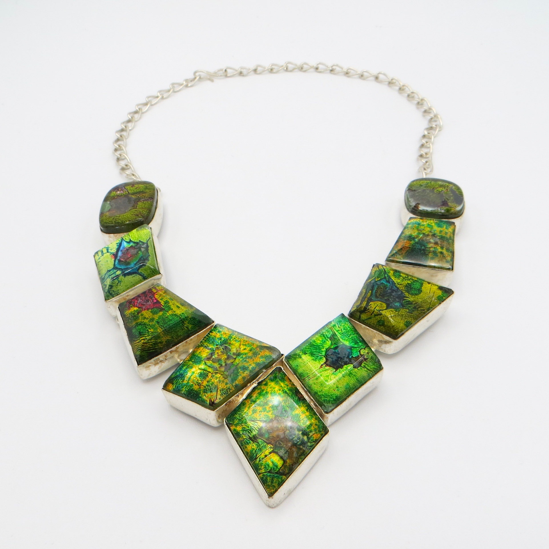 Green Murano Glass Necklace