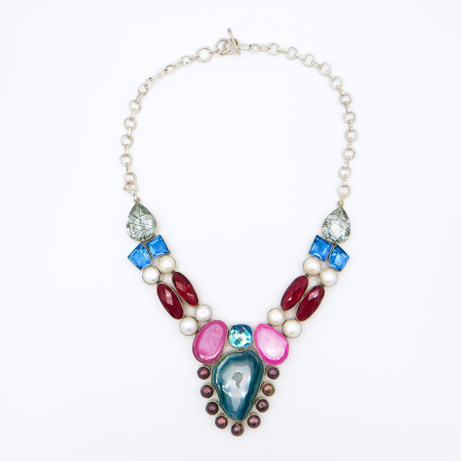 Pearl Quartz & Agate Necklace