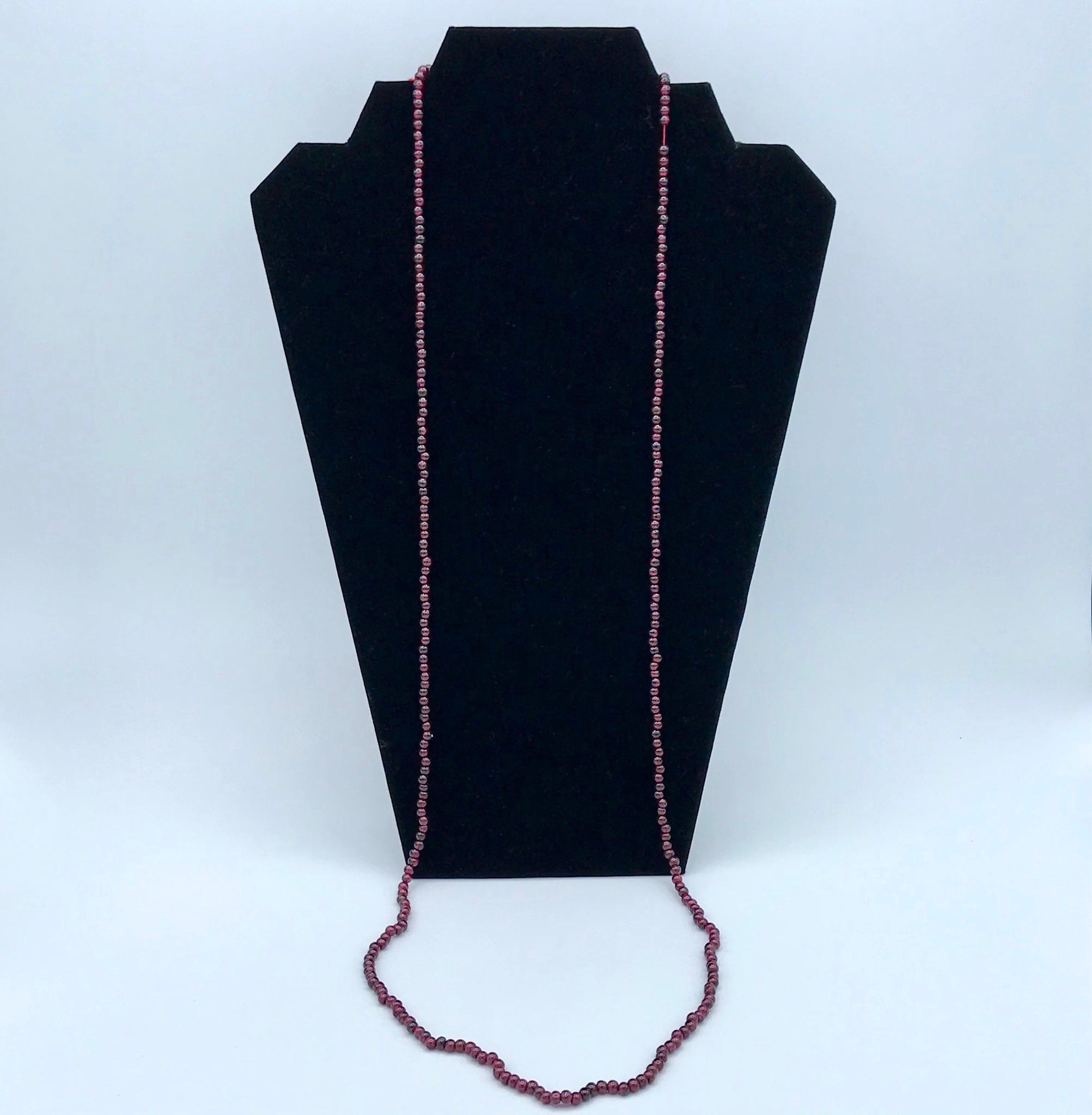 Garnet Beads - Long