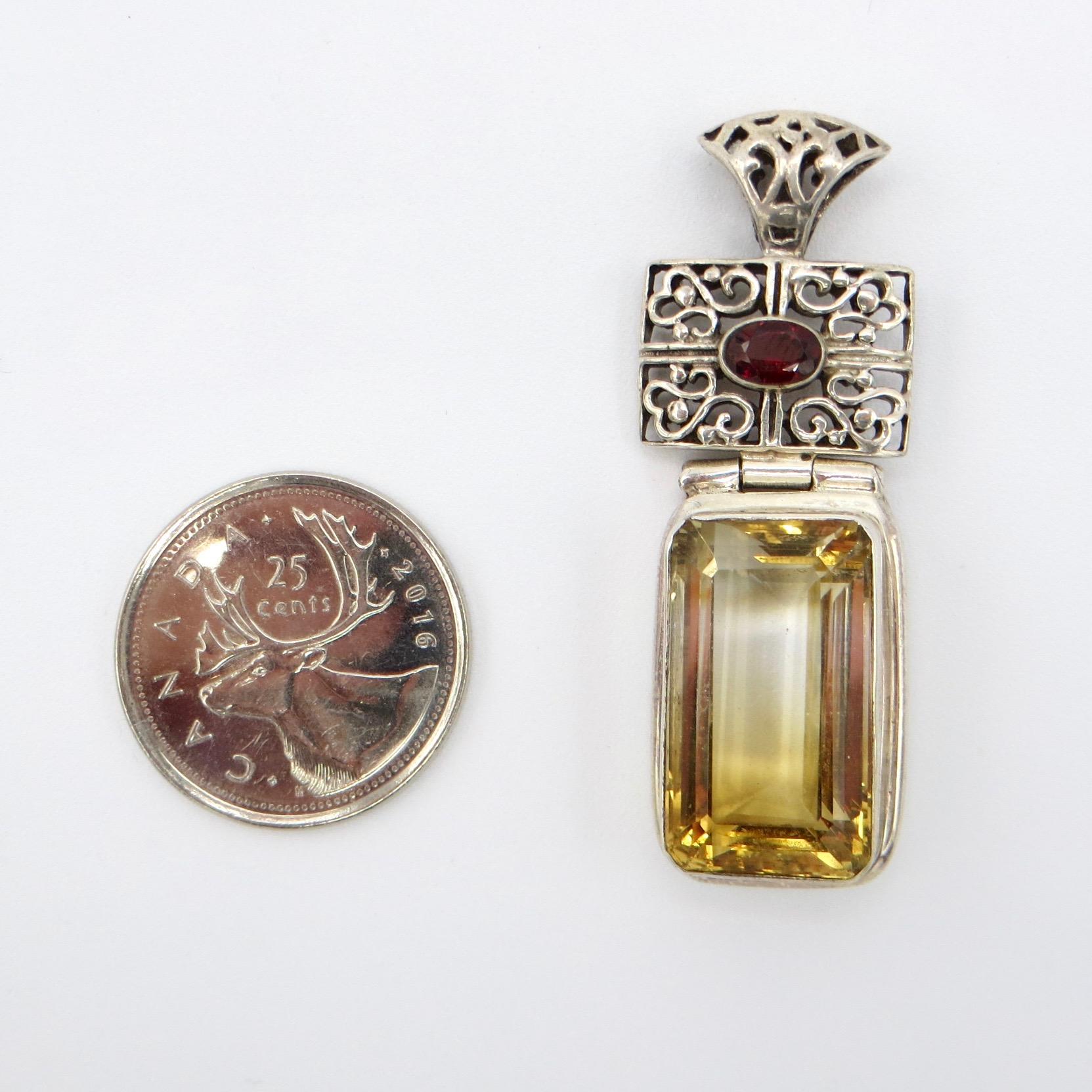 Citrine & Garnet Pendant