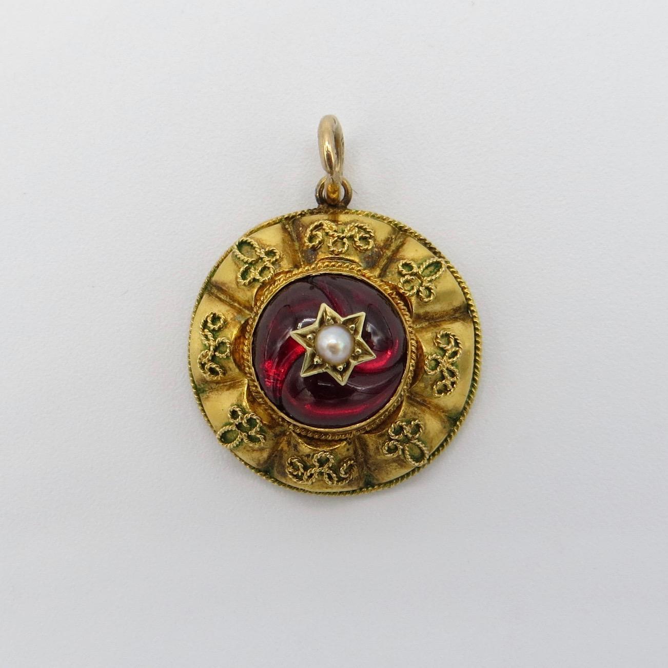 Victorian Garnet Pendant
