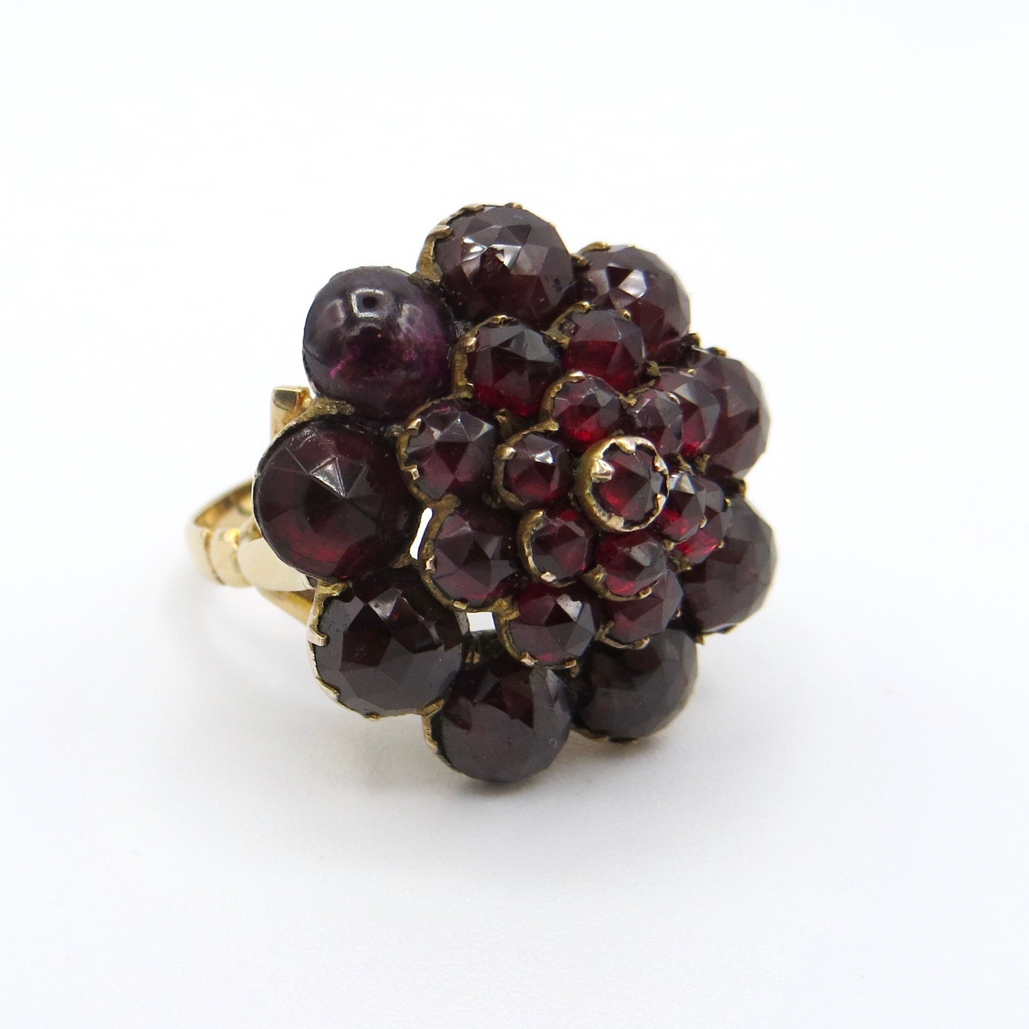 Garnet Pyramid Ring