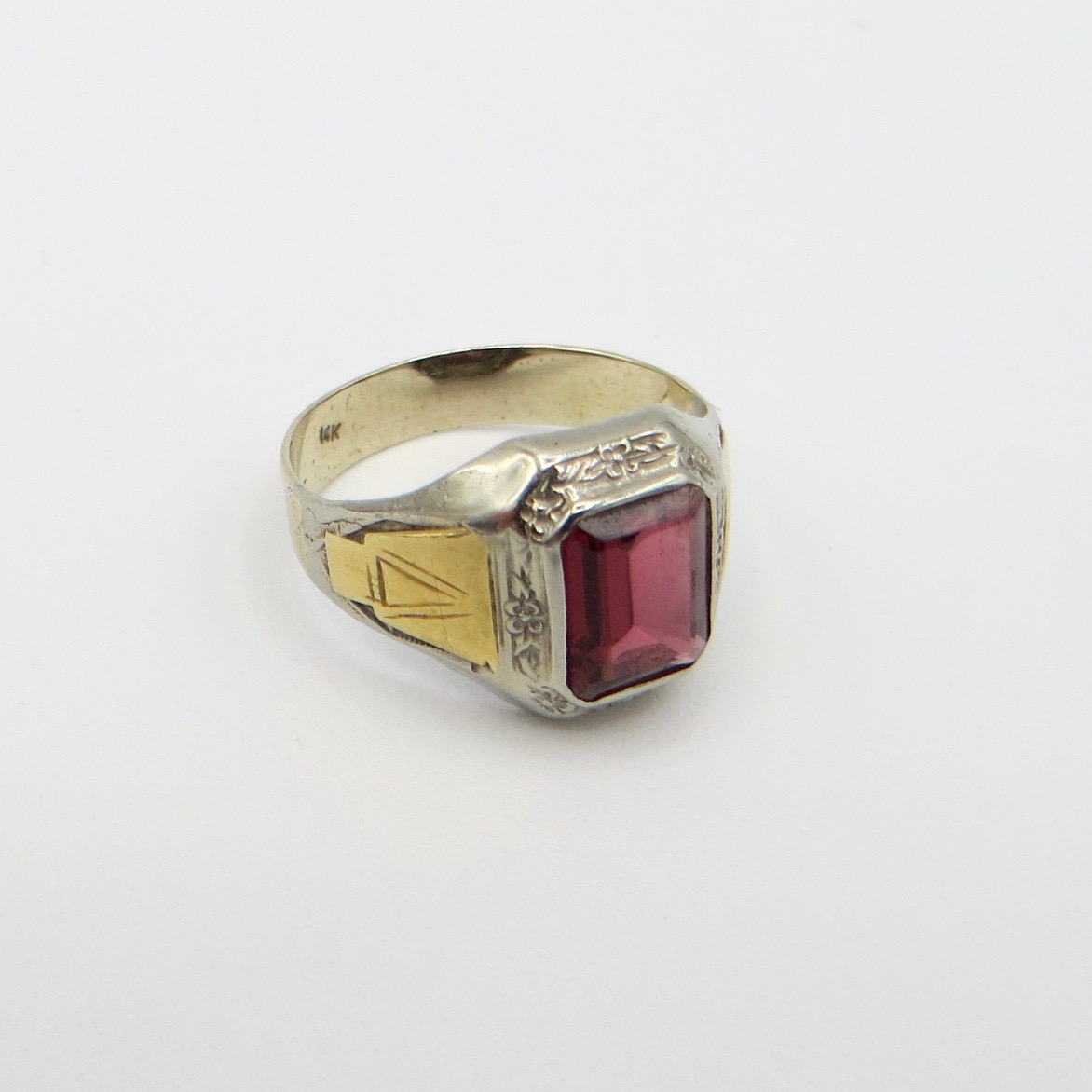 Rectangular Garnet Ring