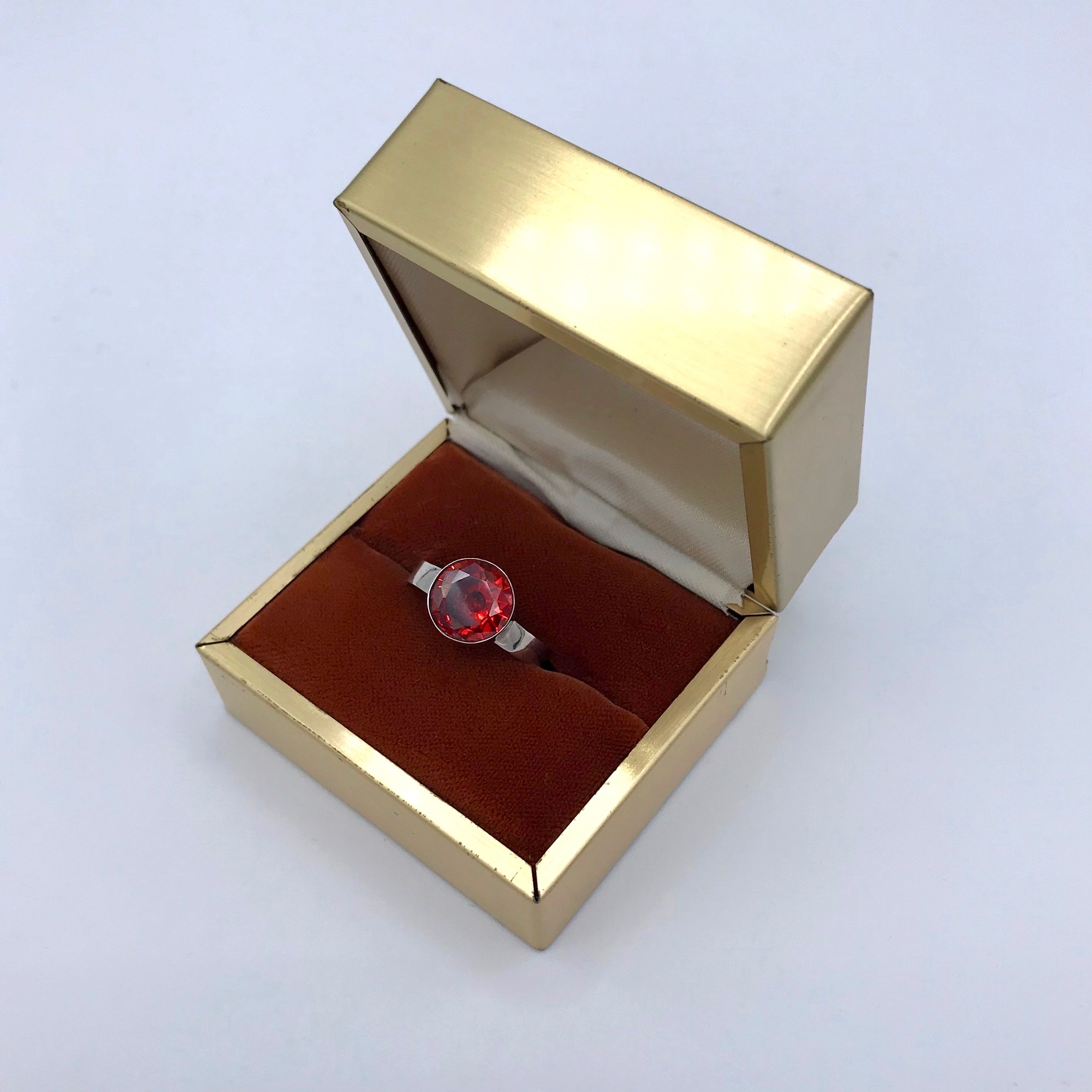 Sterling Silver & Garnet Ring