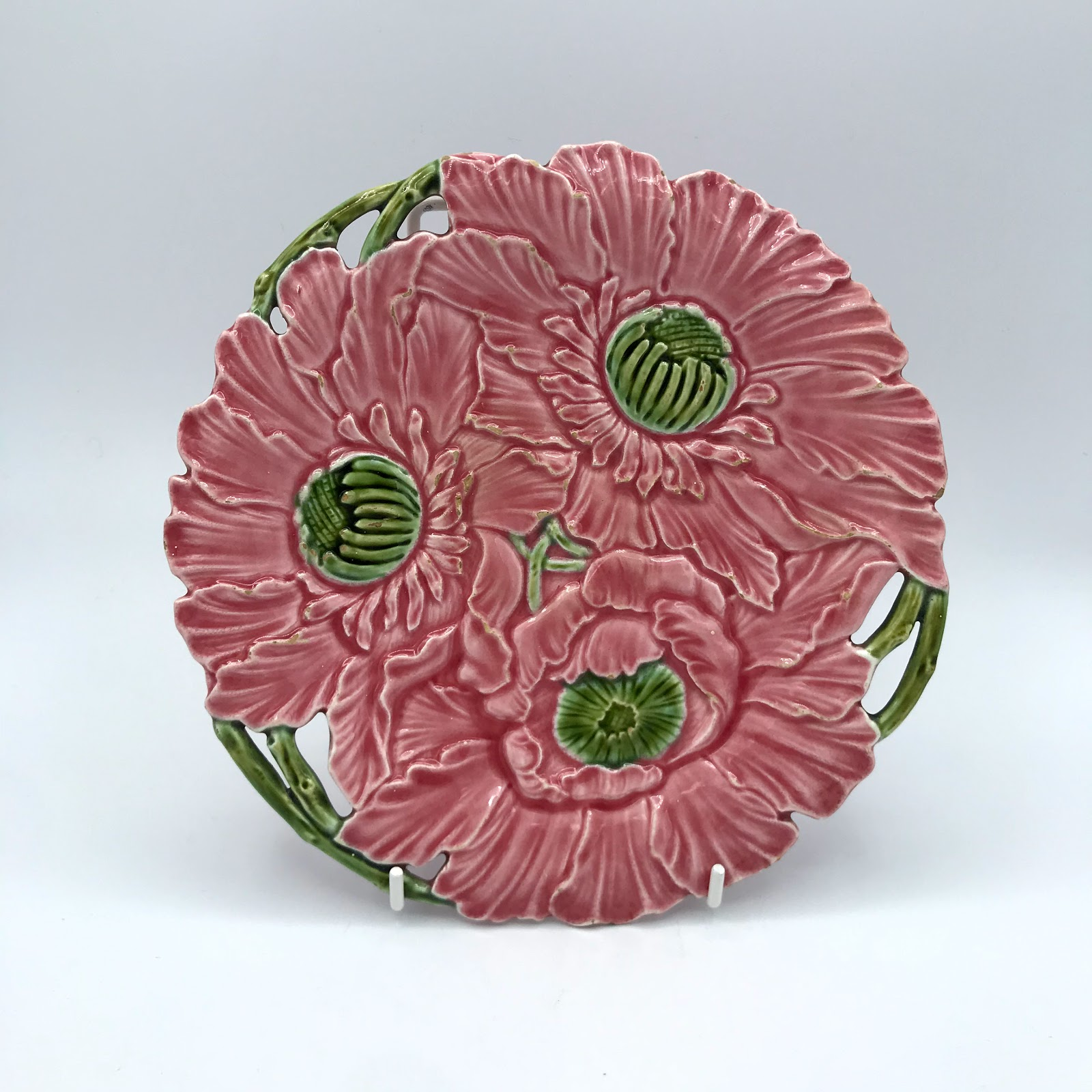 Majolica Flower Plate