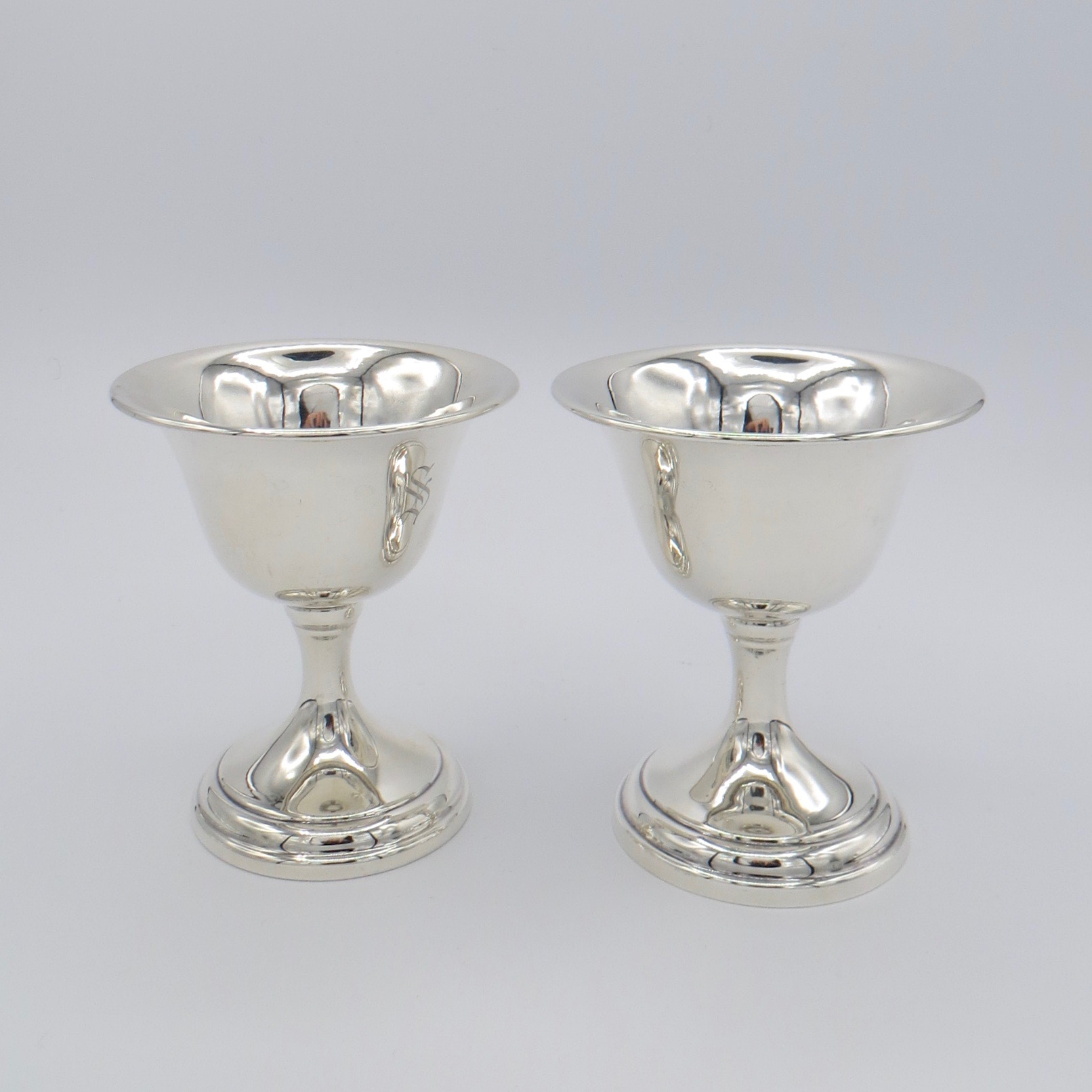 Pair of Sterling Silver Goblets