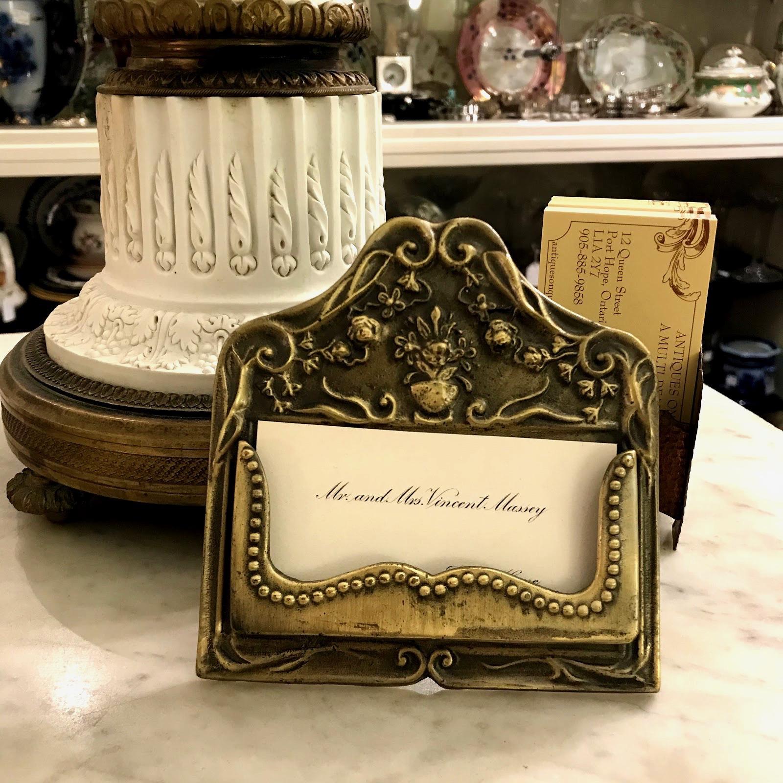 Vintage Calling Card Holder
