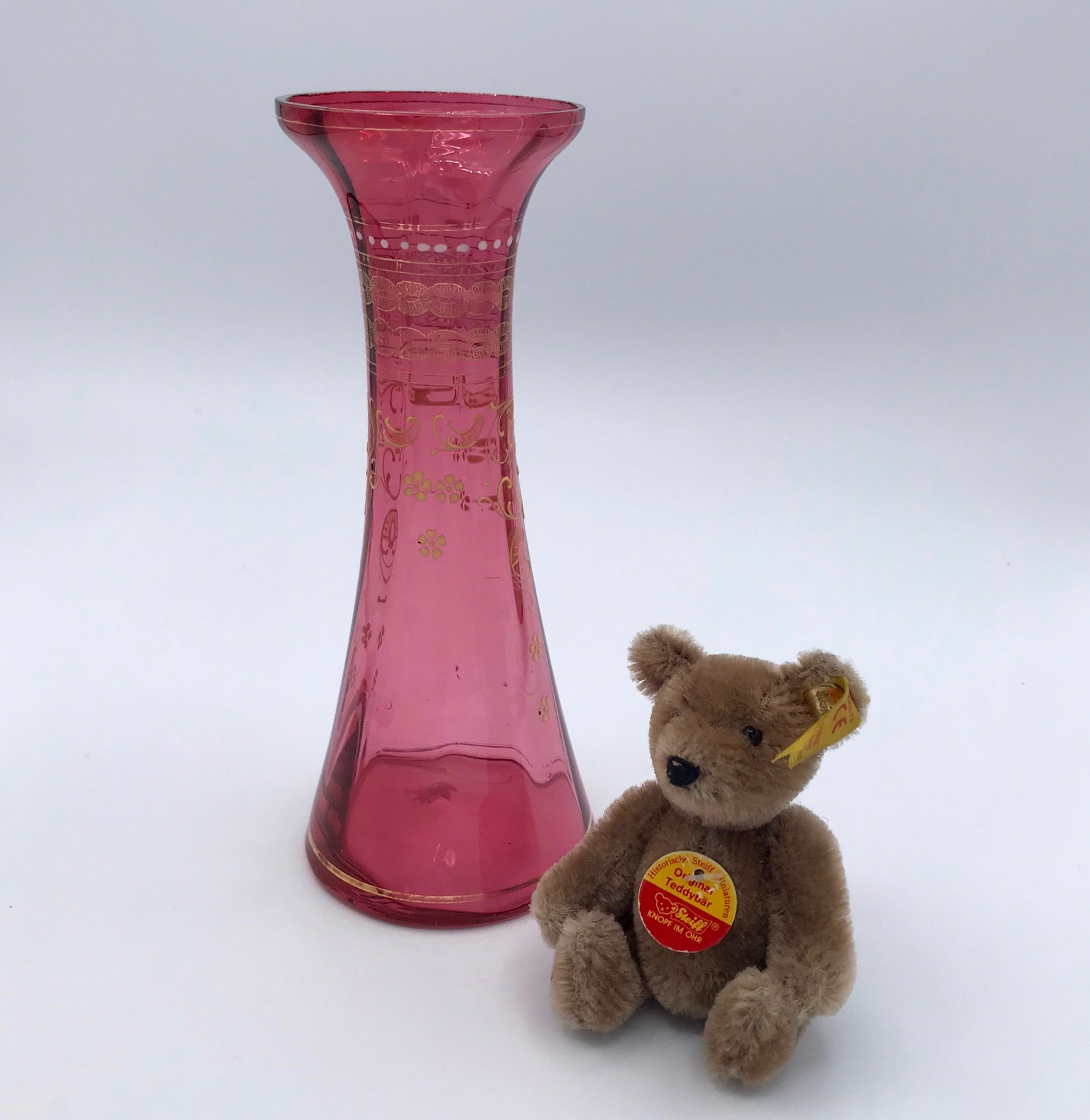 Victorian Cranberry Glass Vase