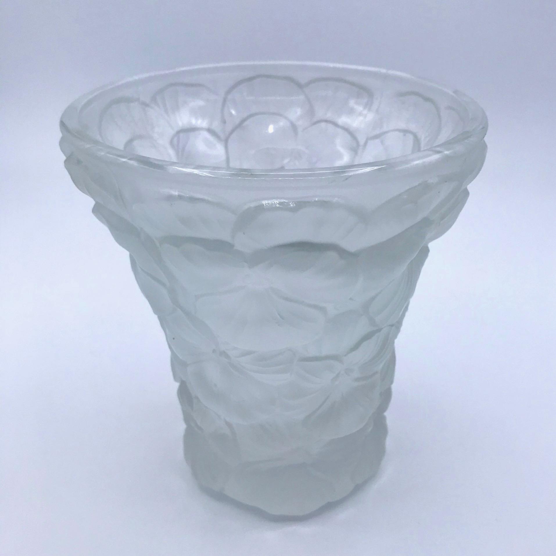 Art Deco Pansy Vase