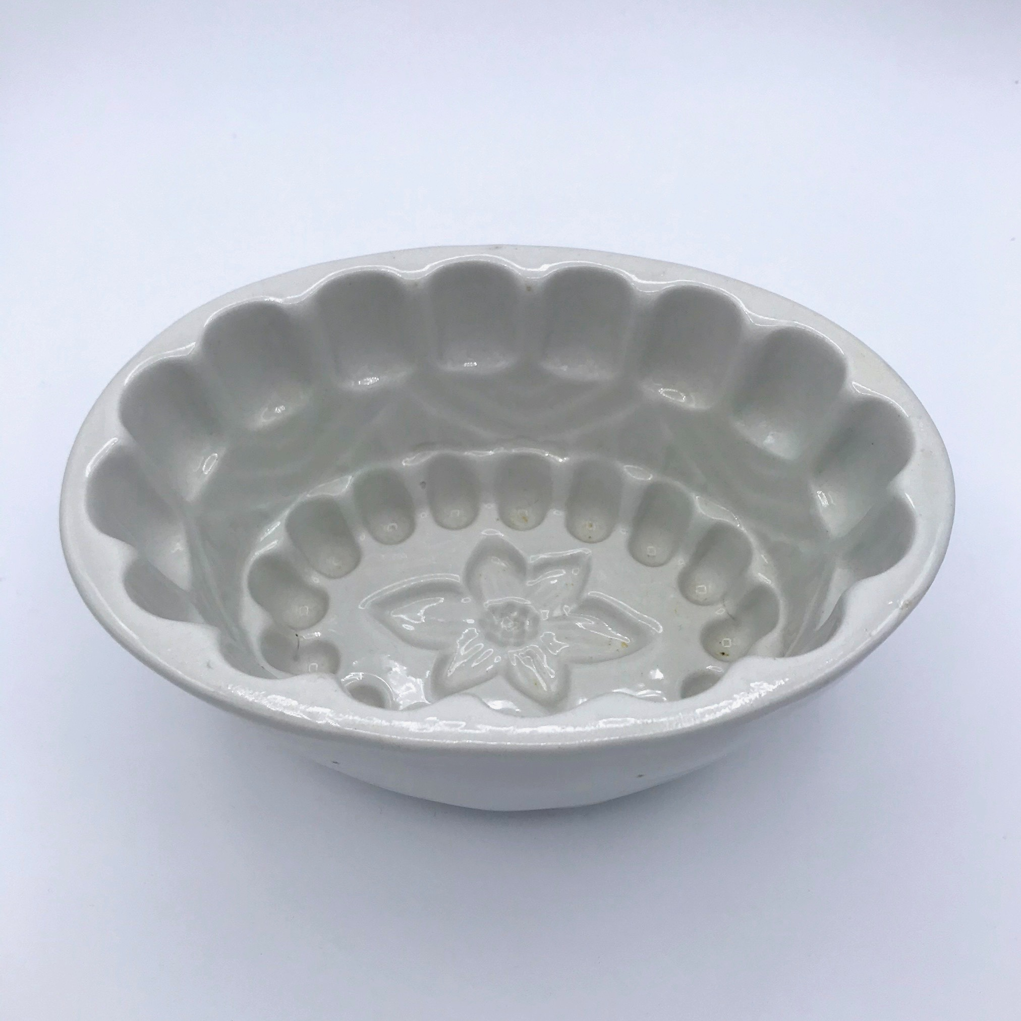 Oval Ironstone Fruit Mould