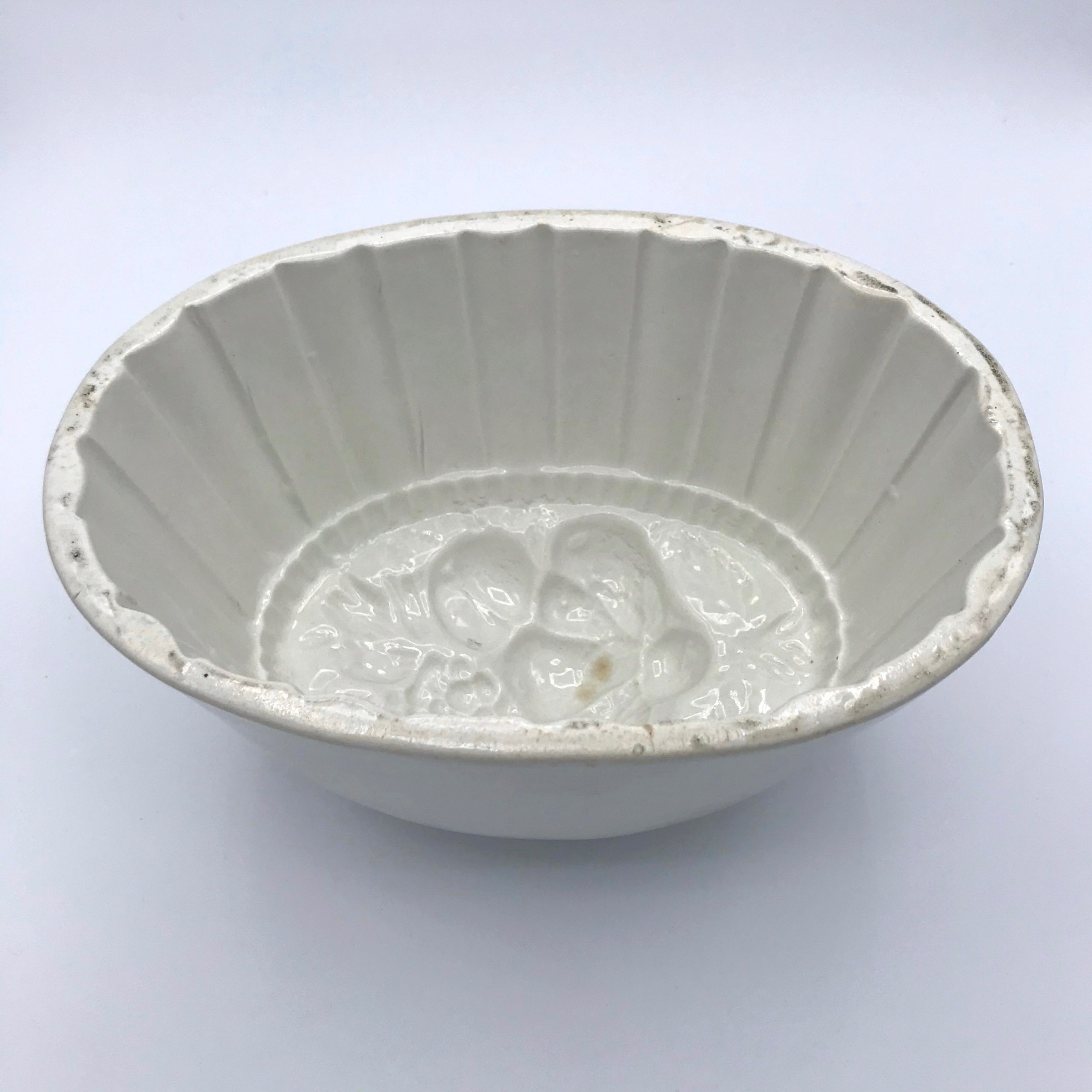 Oval Ironstone Floral Jelly Mould