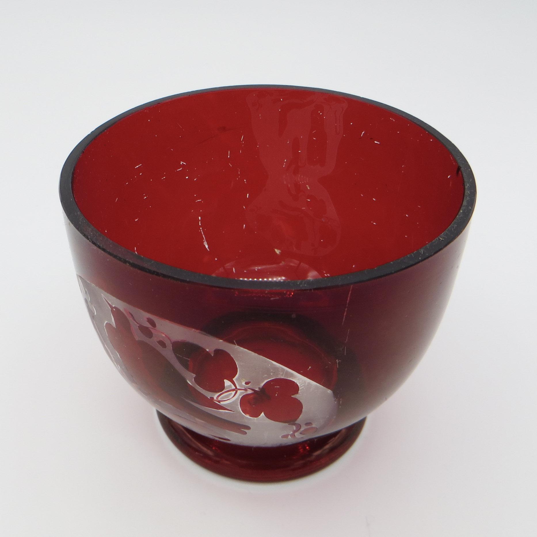 Ruby Lovebirds Candy Dish