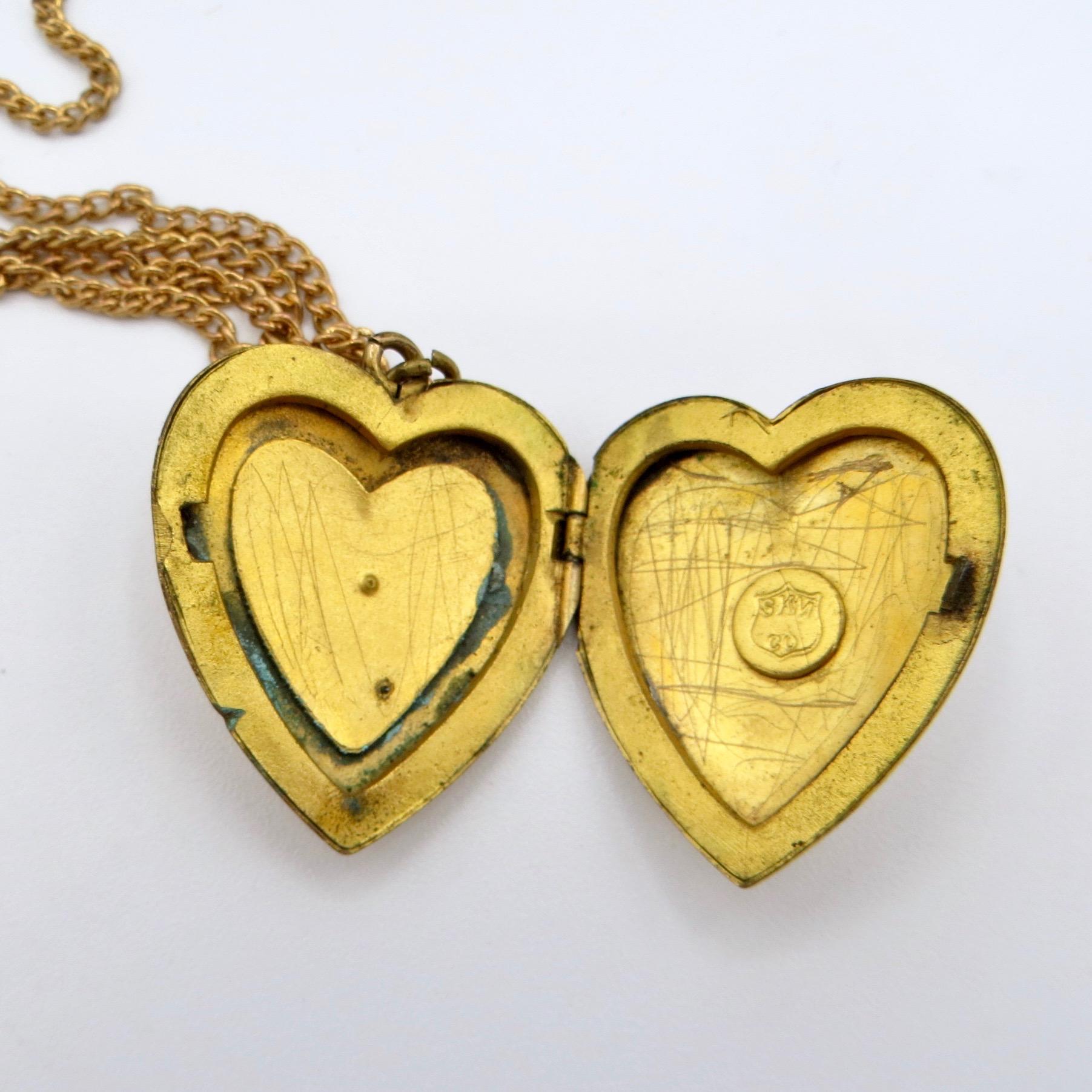 North Star Heart Locket c.1915