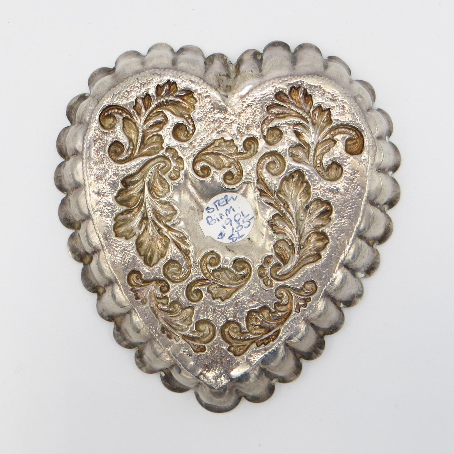 Birmingham Silver Heart Dish