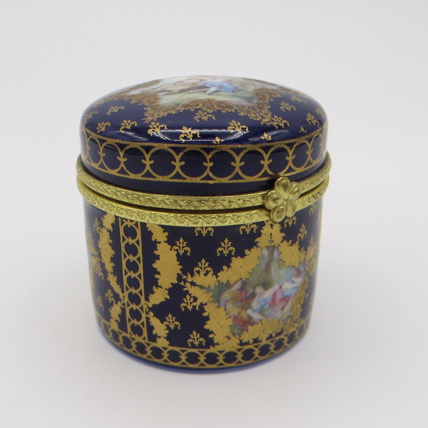 Round Limoges Dresser Box