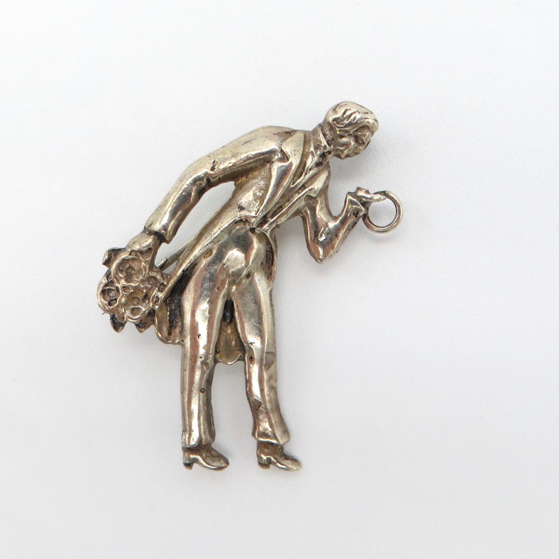Silver Suitor Brooch