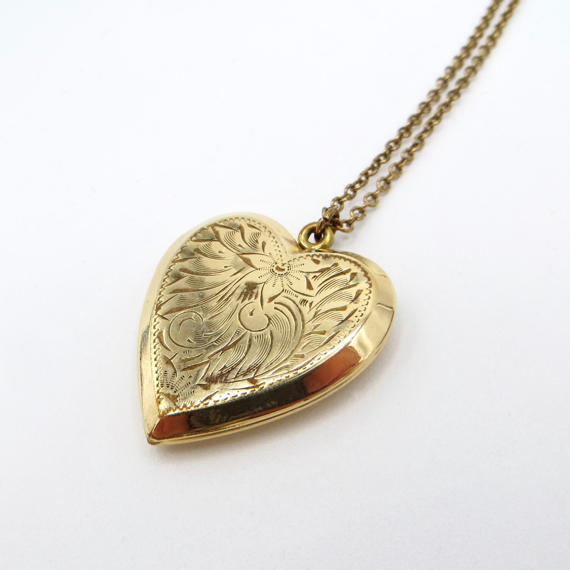 Botanical Heart Locket