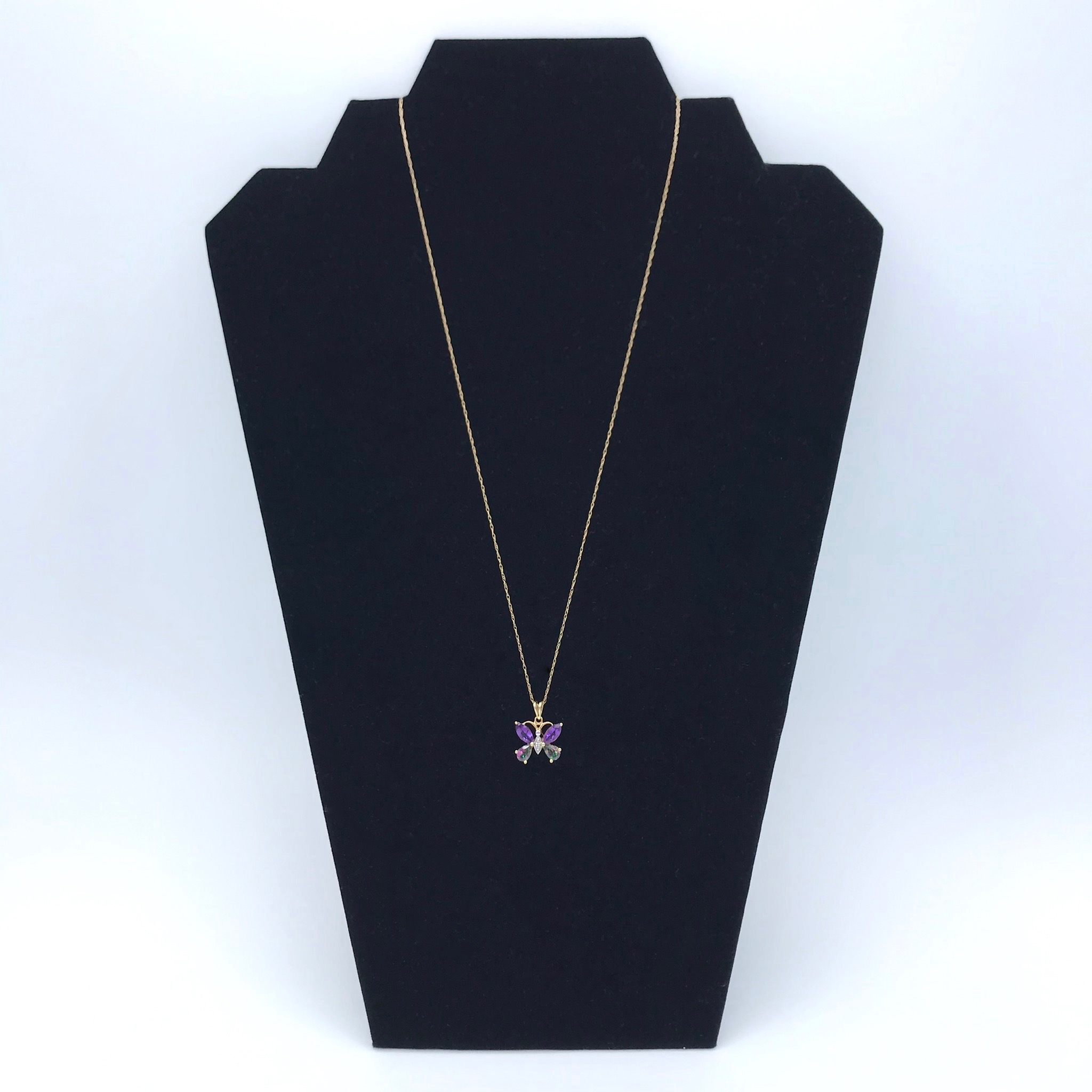 Amethyst & Mystic Topaz Butterfly Necklace