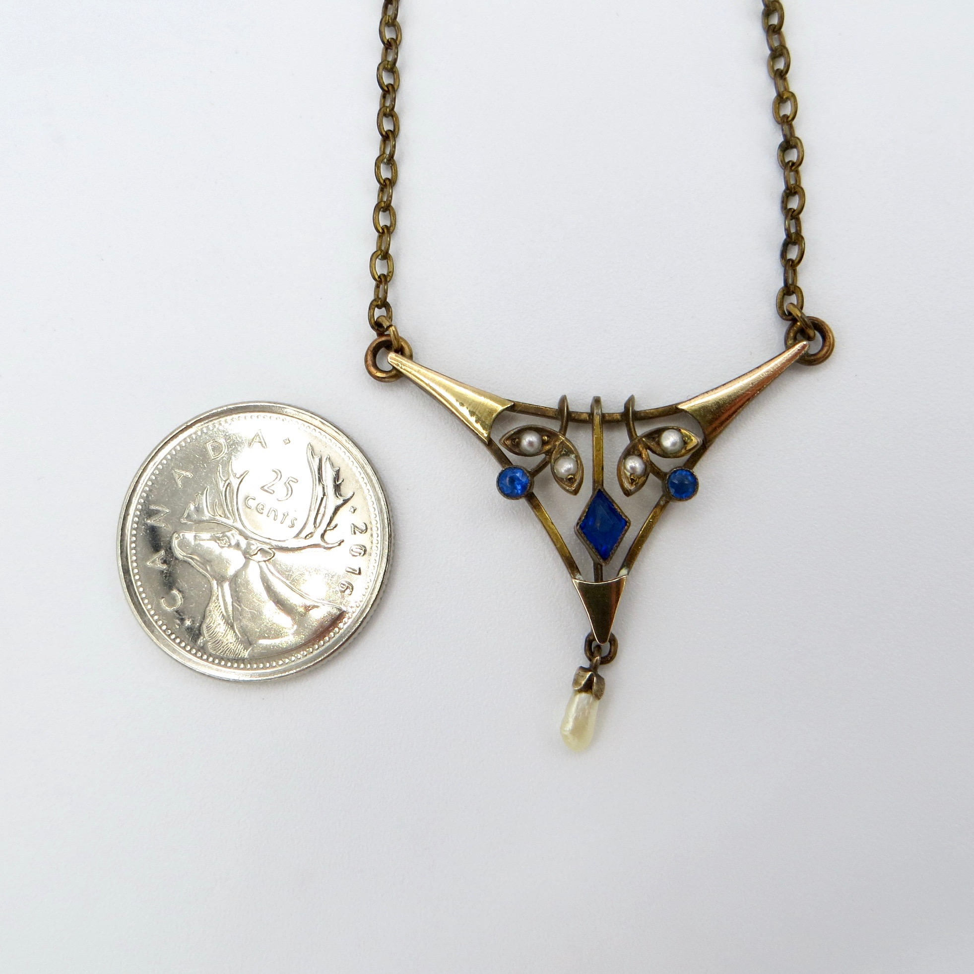 Victorian Triangle Necklace