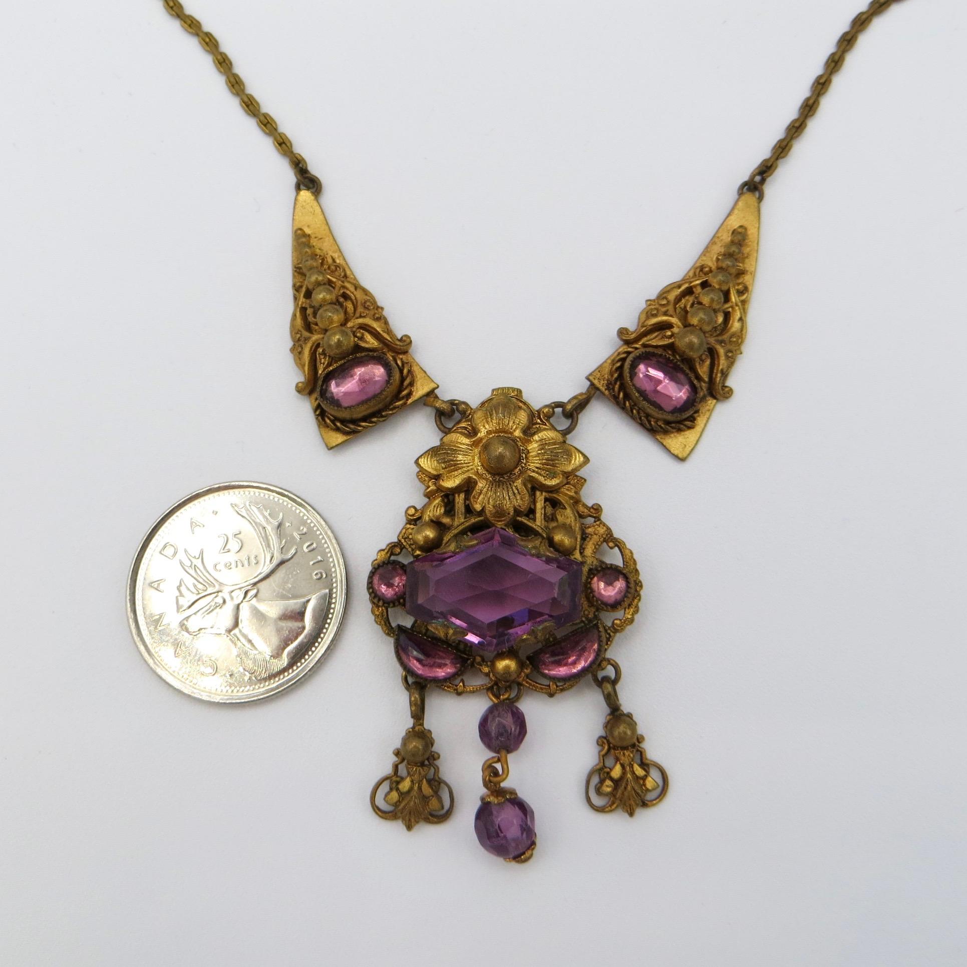 Victorian Floral Motif Necklace