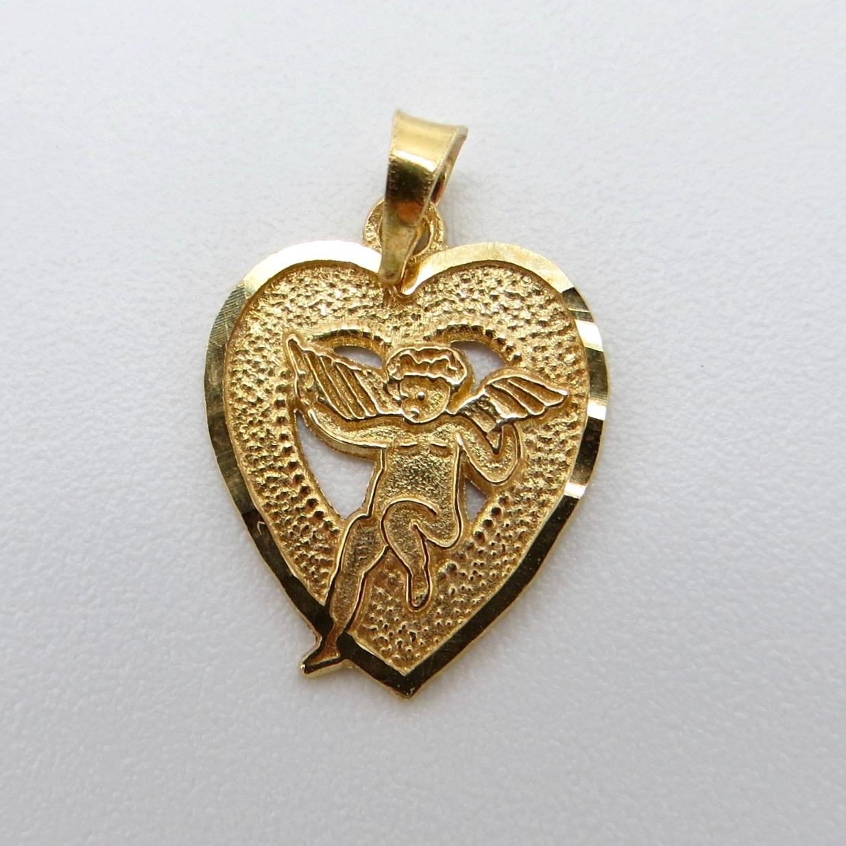 Heart & Cherub Charm