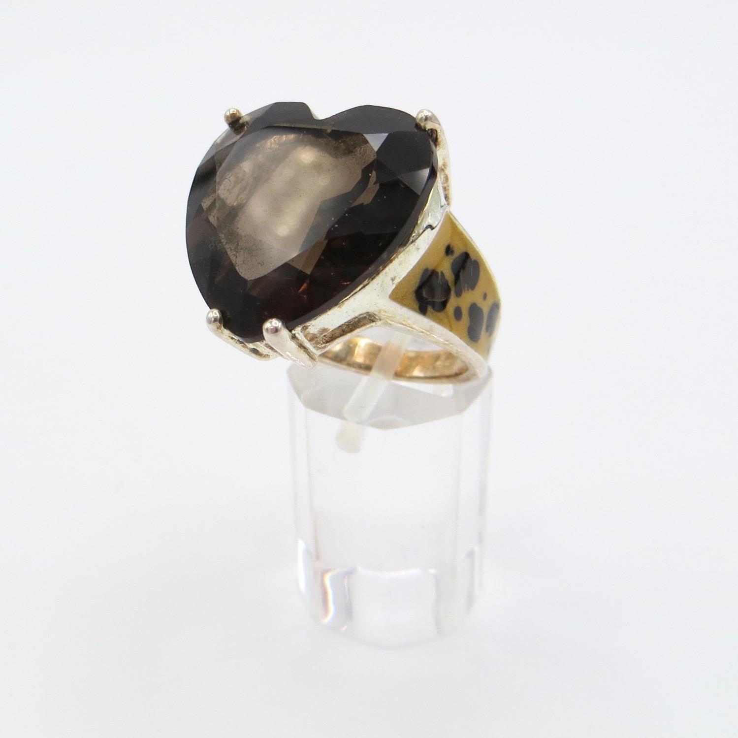Smoky Quartz Heart Ring