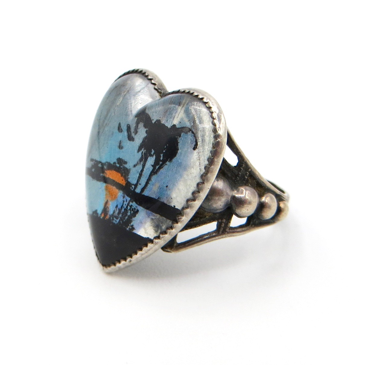 Tropical Getaway Heart Ring